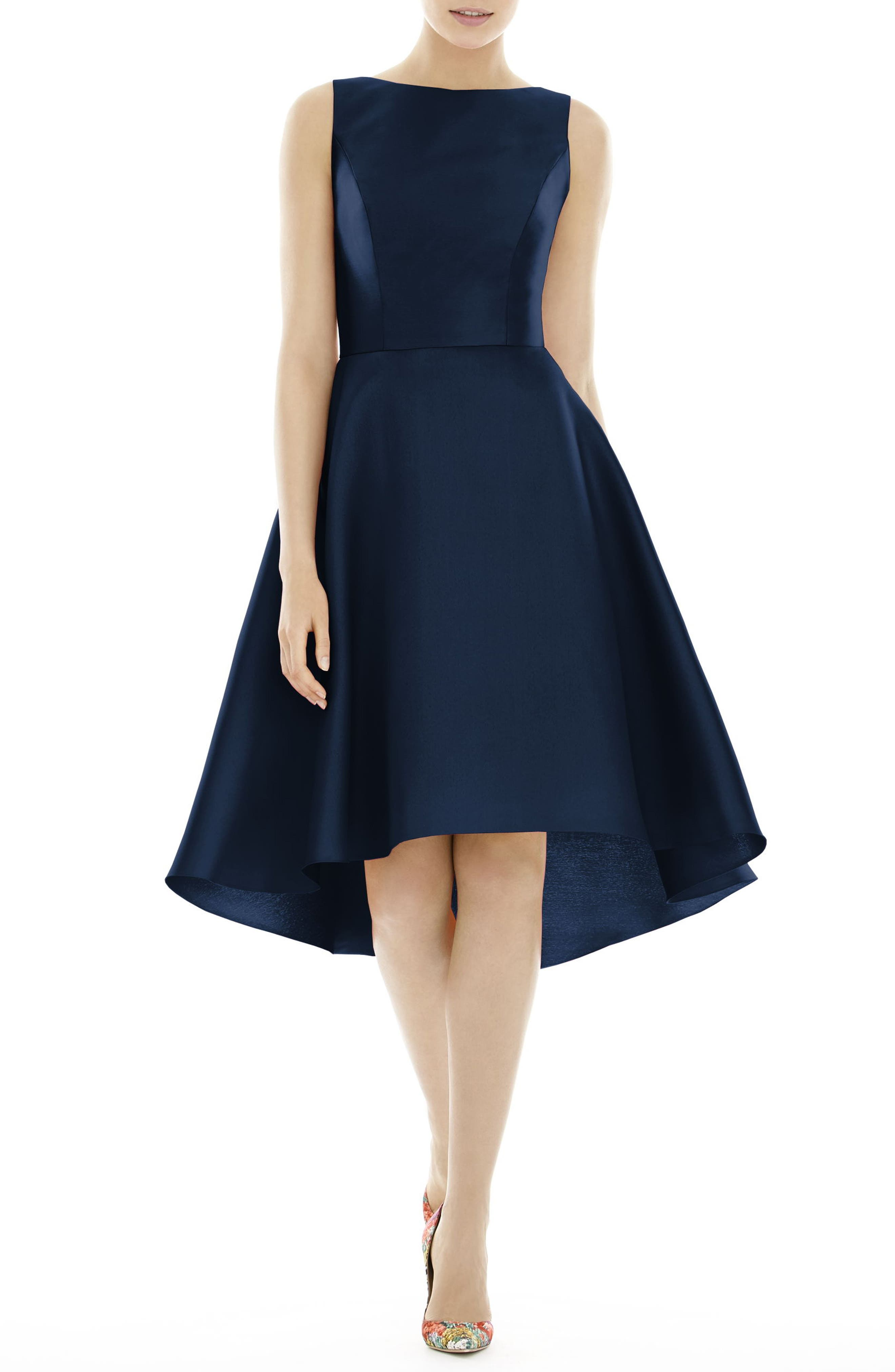 High/Low Cocktail Dress,                             Main thumbnail 1, color,                             Midnight