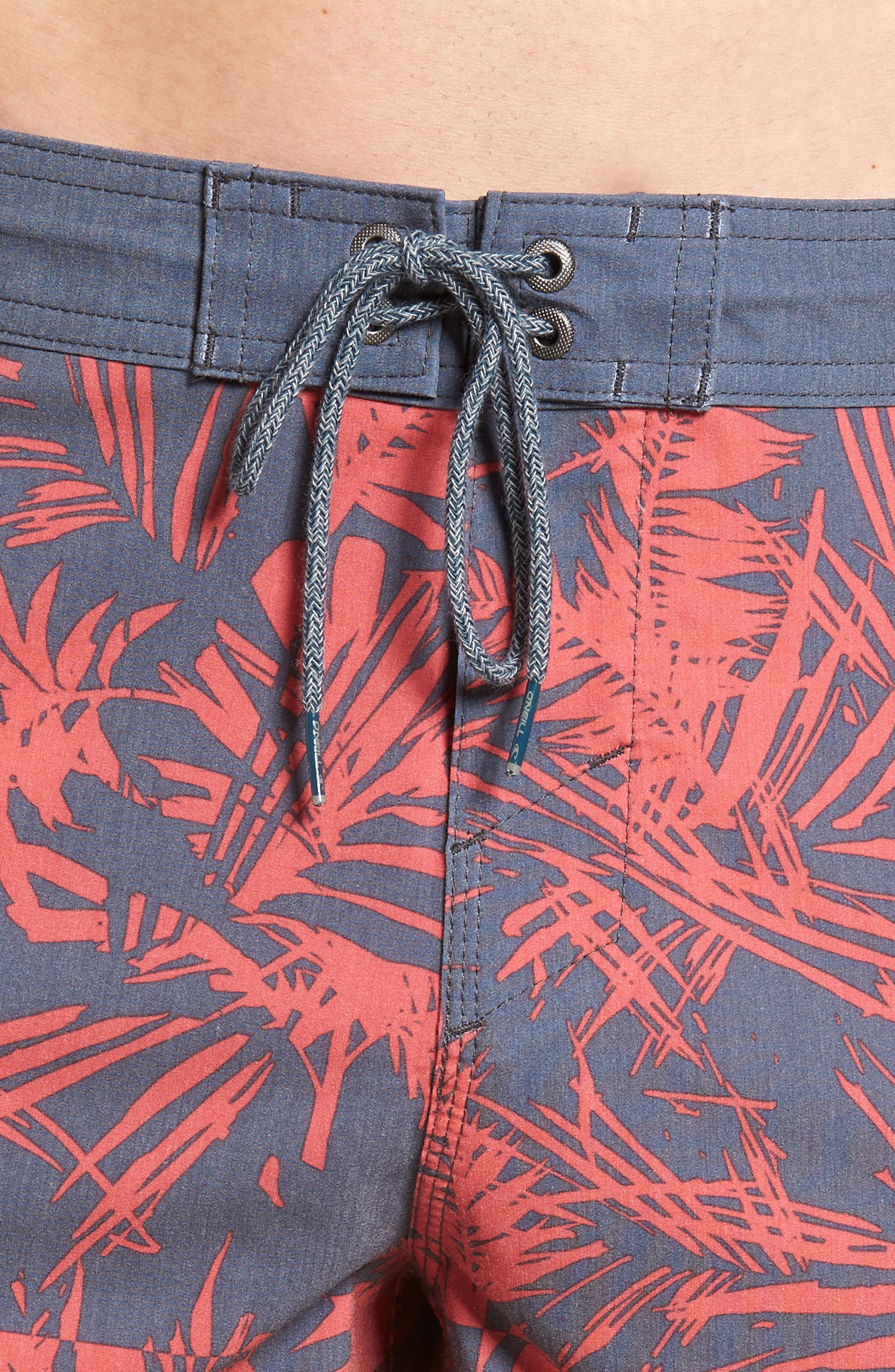 Inverted Cruzer Board Shorts,                             Alternate thumbnail 4, color,                             Faded Red