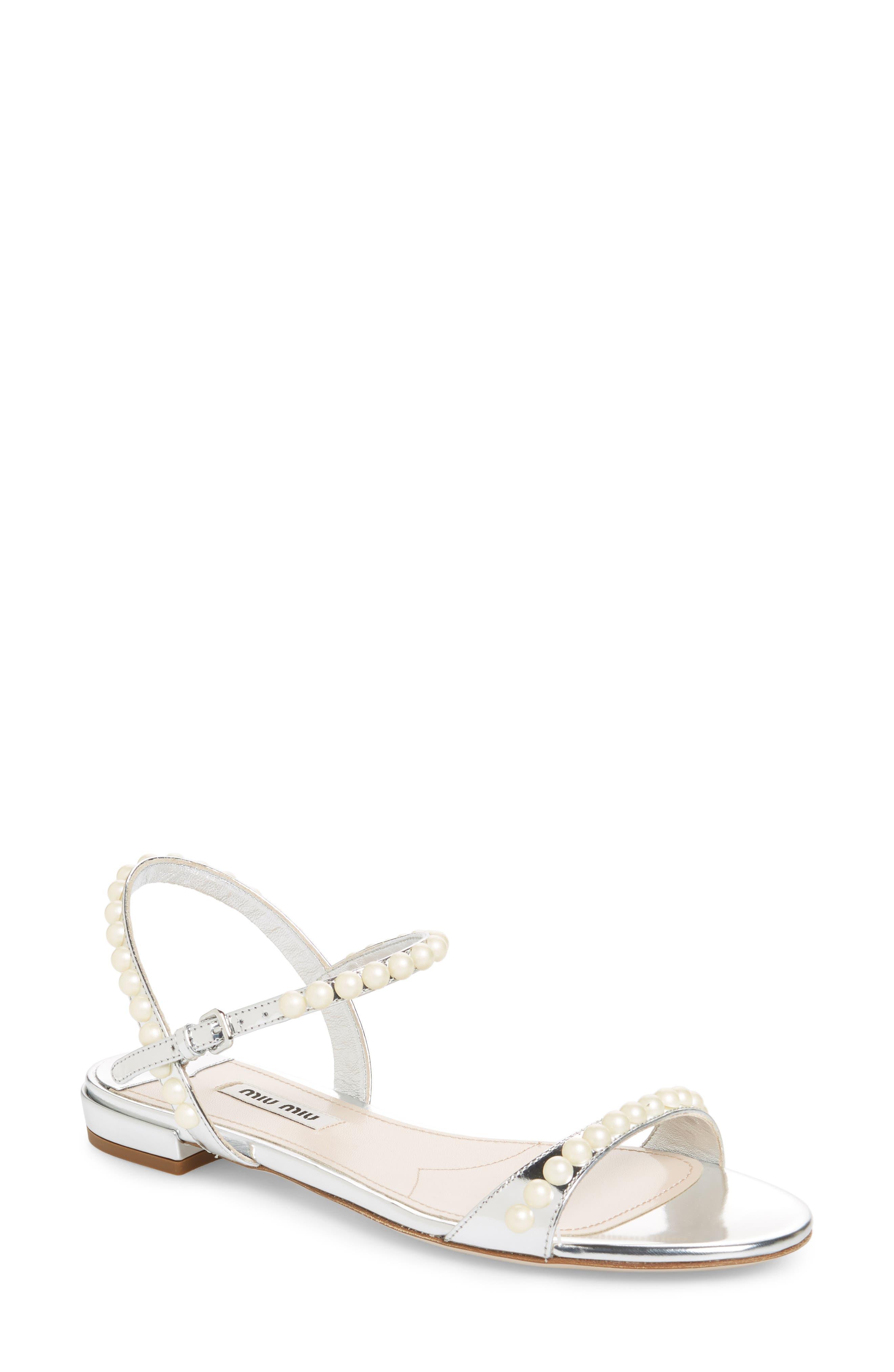 Pearl Sandal,                         Main,                         color, Silver