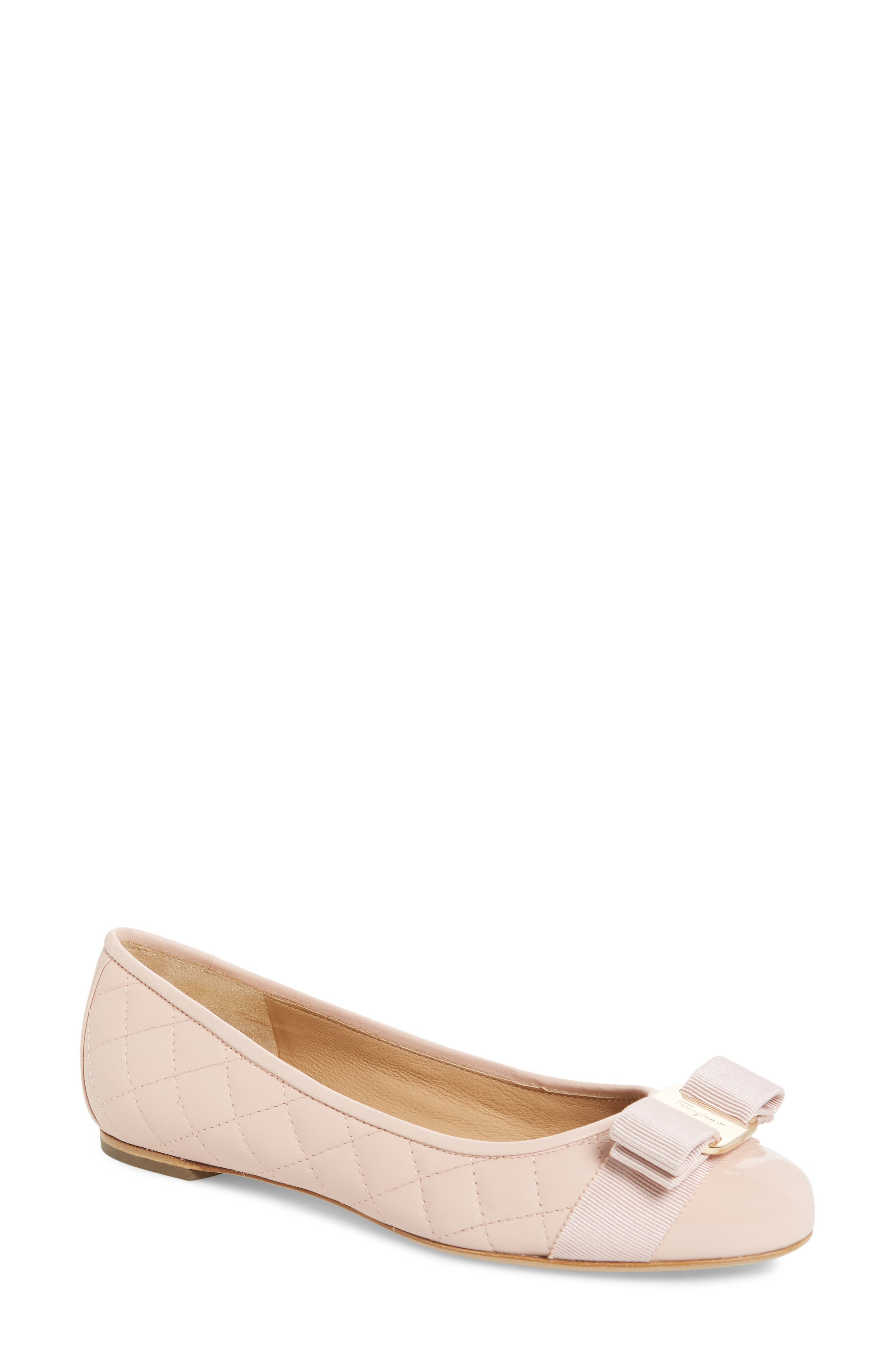 Varina Q Quilted Flat,                         Main,                         color, Bon Bon