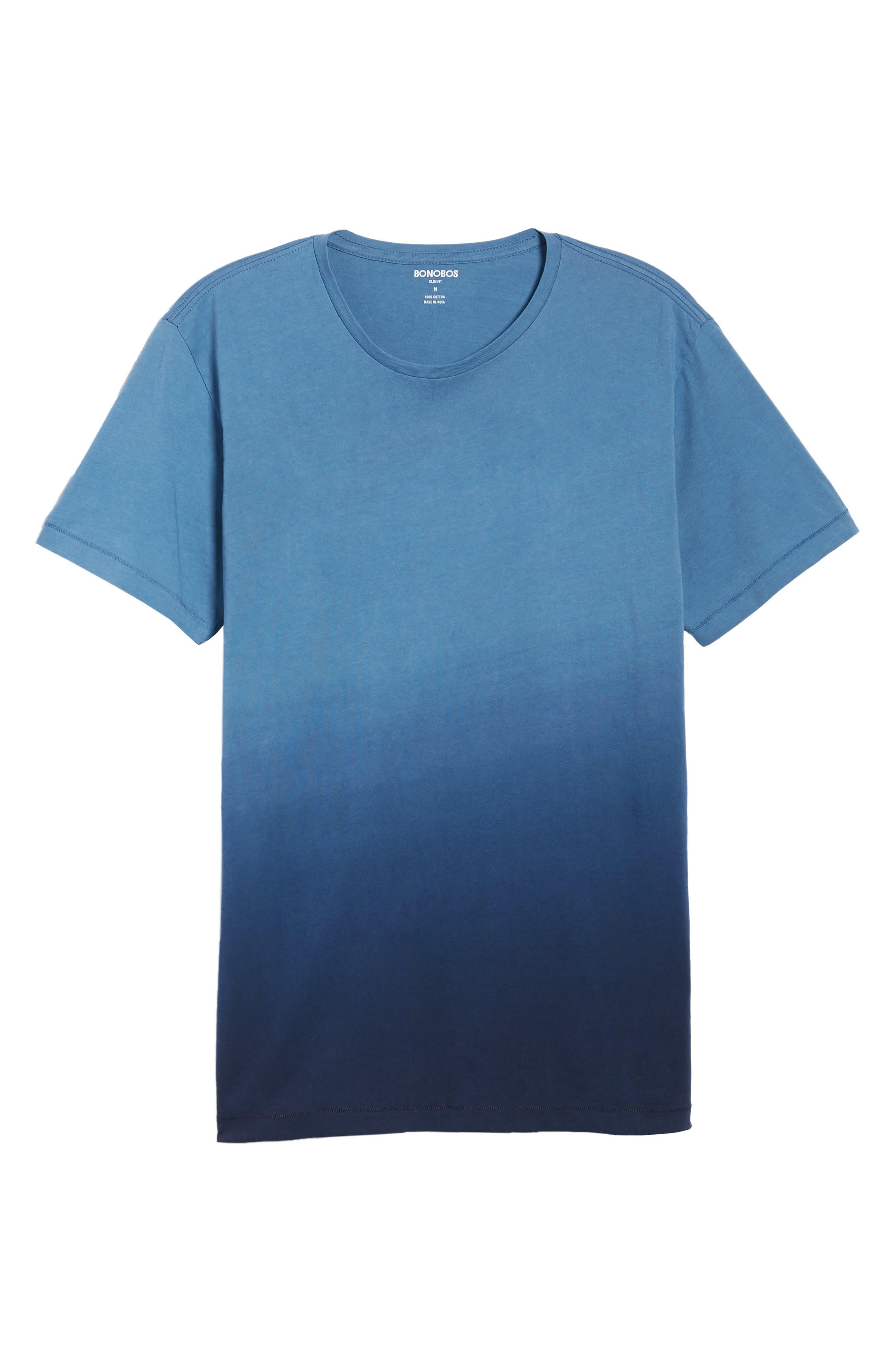 Dip Dye T-Shirt,                             Alternate thumbnail 6, color,                             Navy Ombre