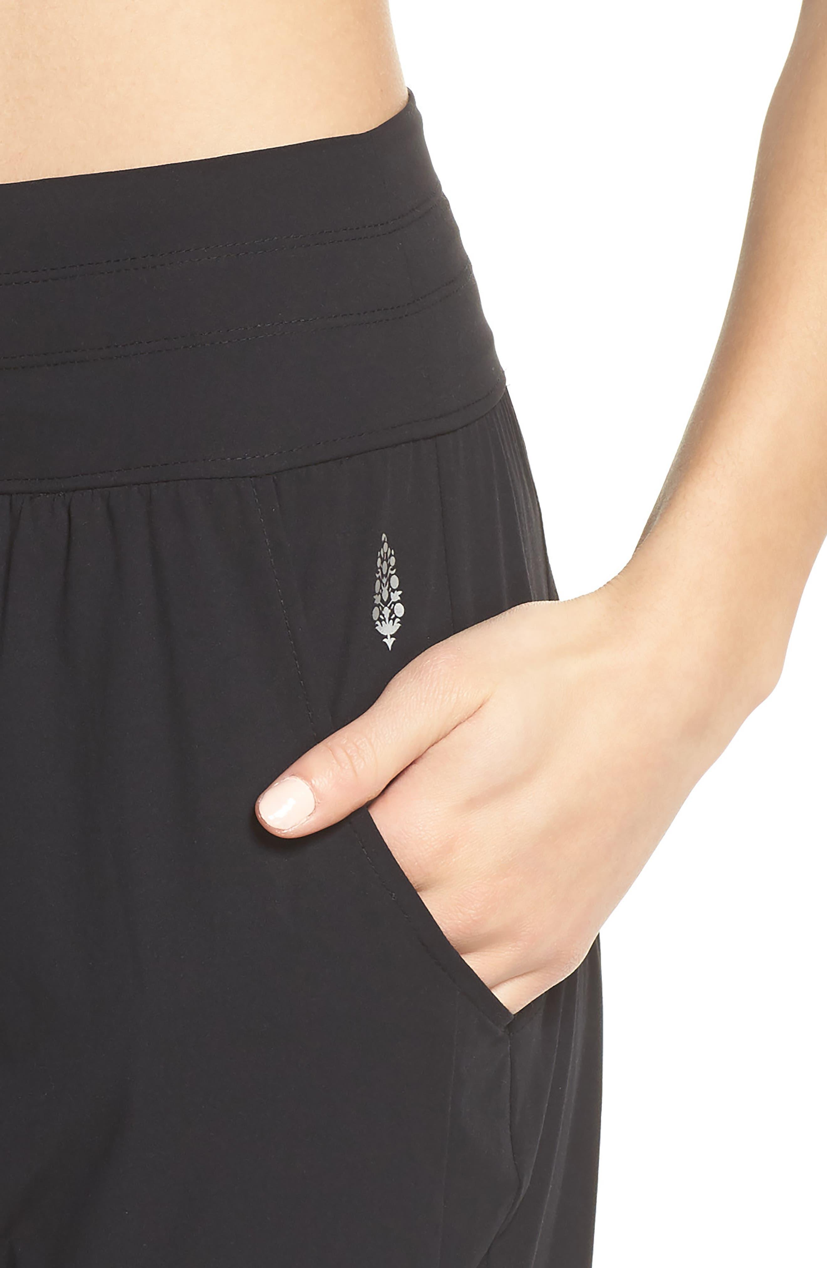 Cardio Harem Pants,                             Alternate thumbnail 4, color,                             Black