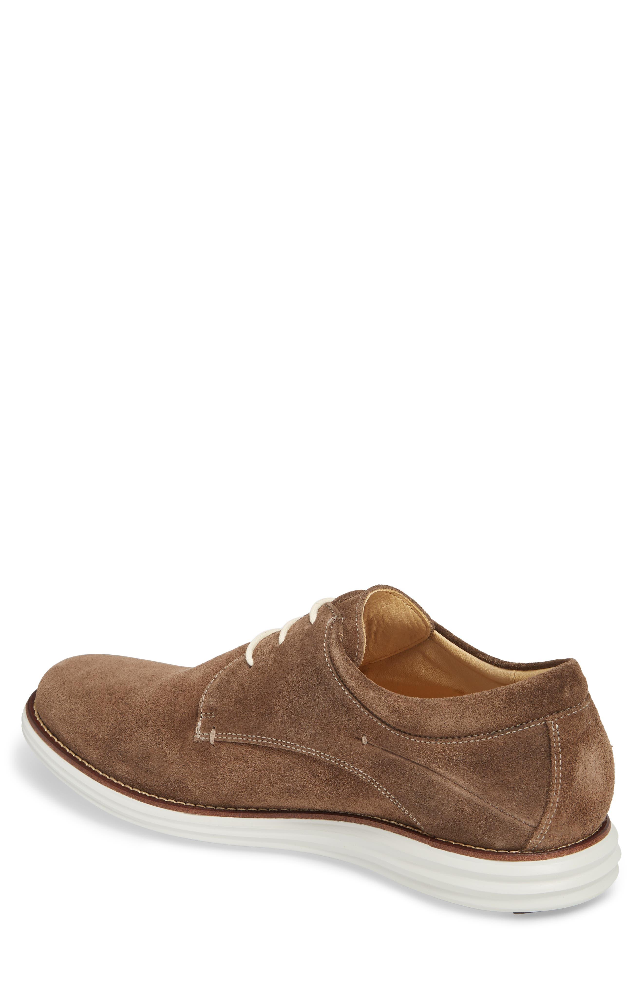 Planalto Plain Toe Derby,                             Alternate thumbnail 2, color,                             Suede Truffle Leather