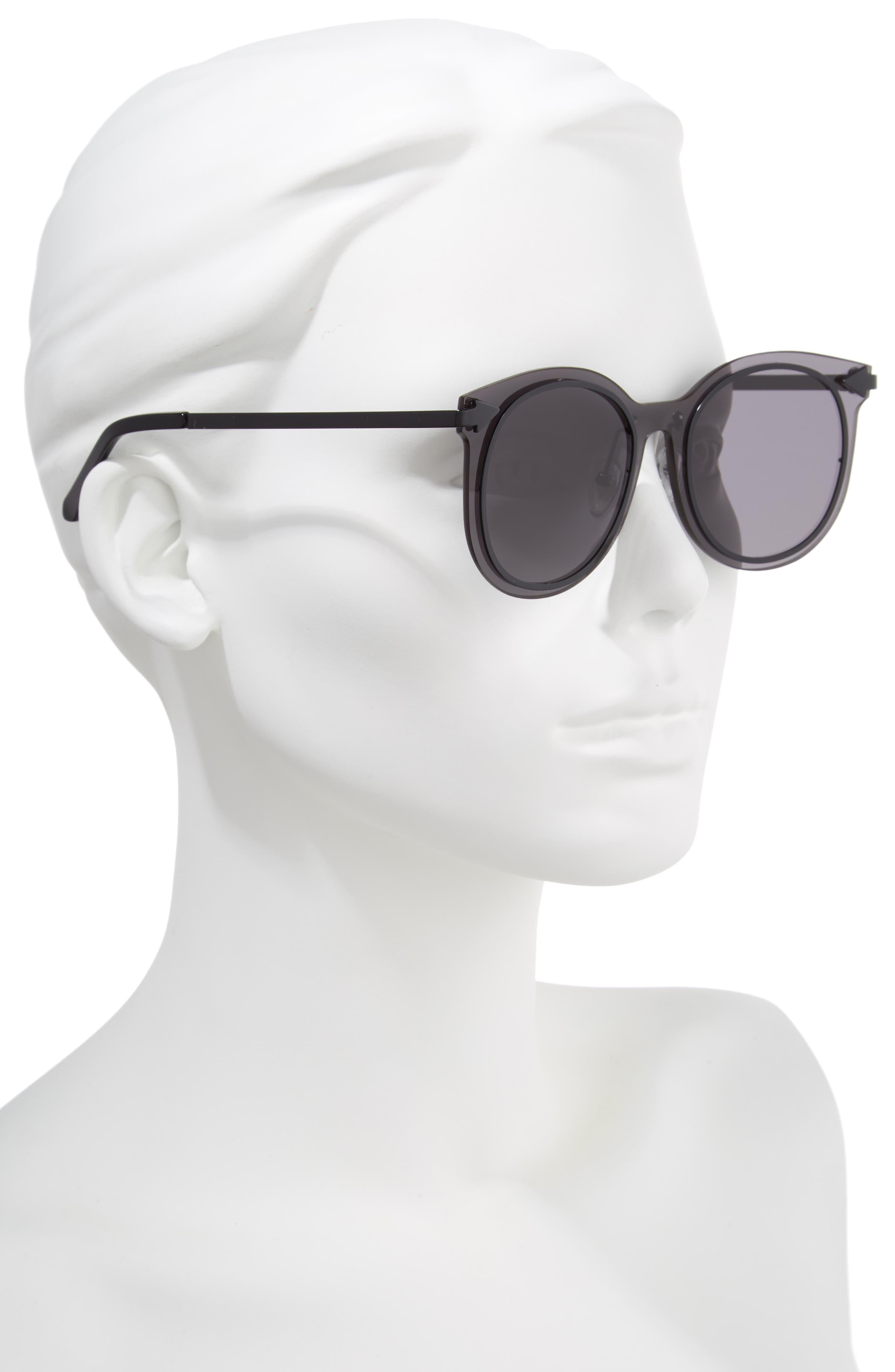 Miss Persimmon 51mm Sunglasses,                             Alternate thumbnail 2, color,                             Black