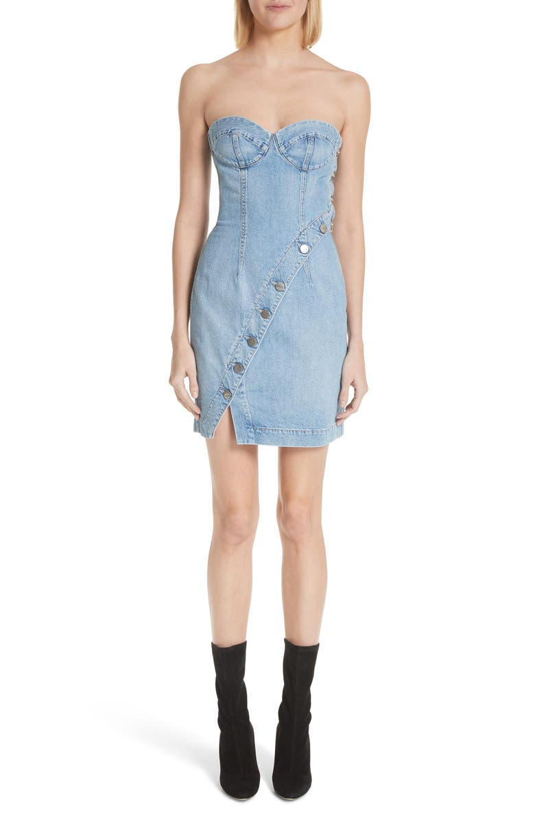Claudia Strapless Denim Dress