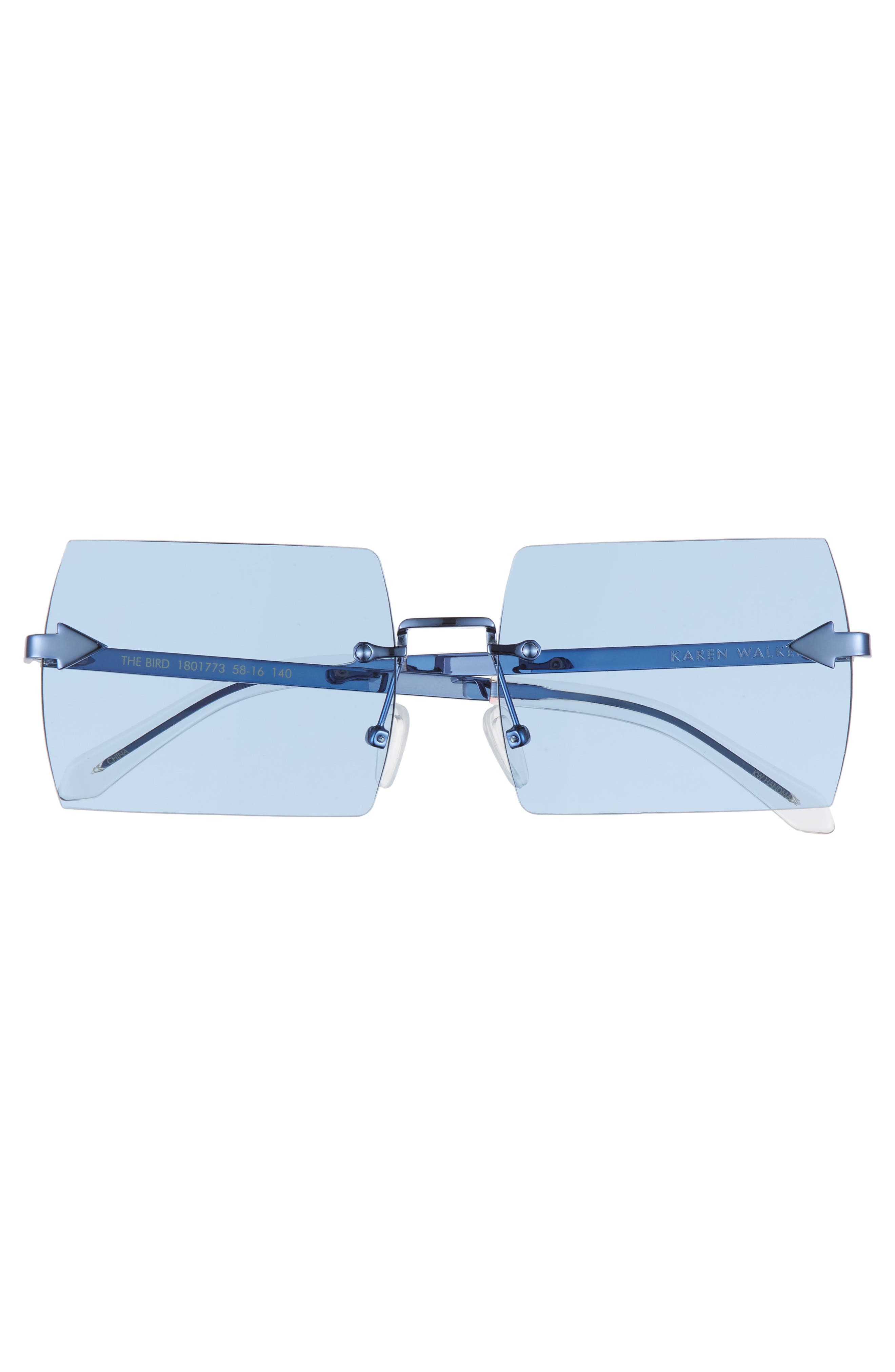 The Bird 58mm Rimless Sunglasses,                             Alternate thumbnail 3, color,                             Sky