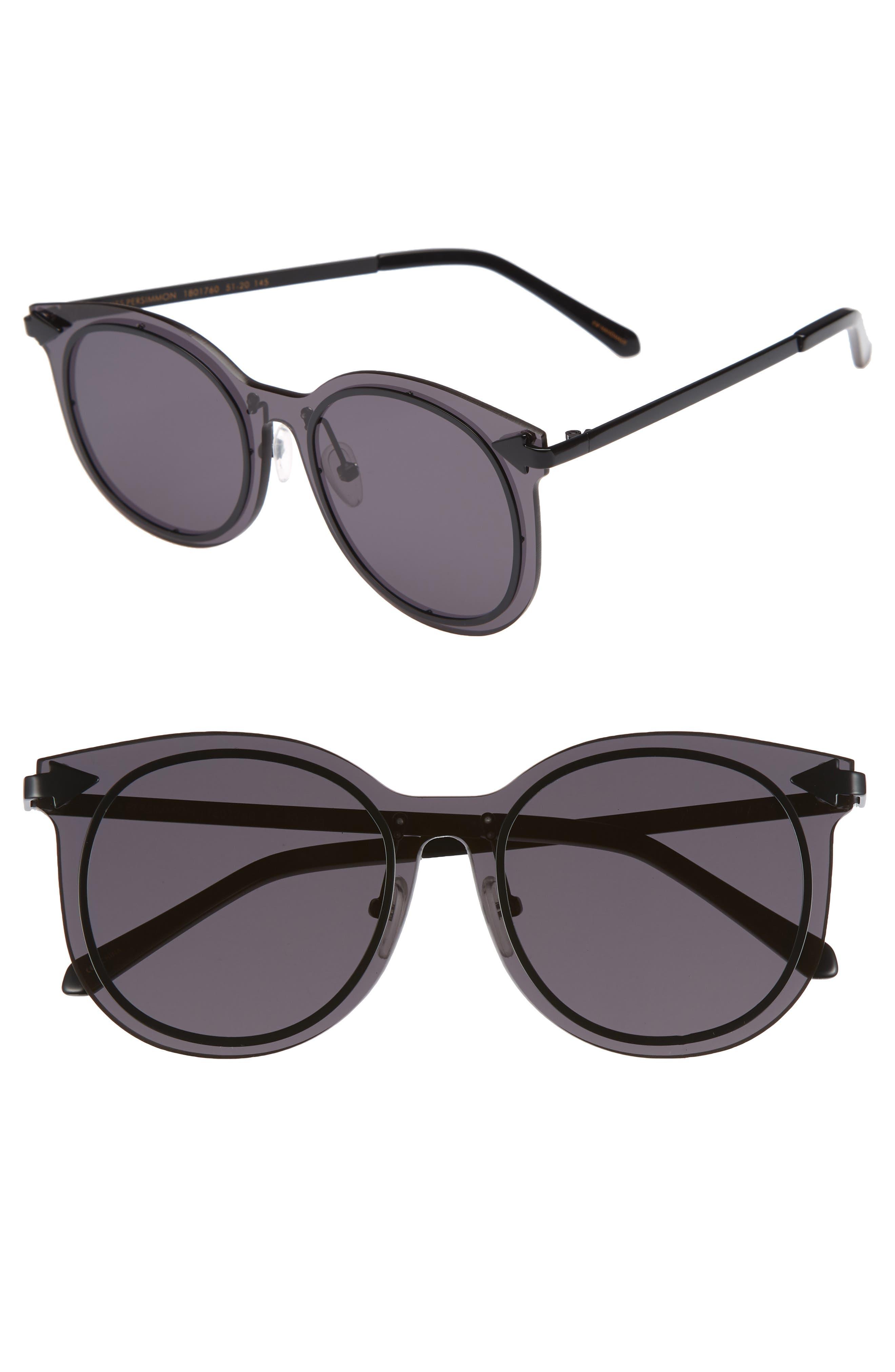 Miss Persimmon 51mm Sunglasses,                             Main thumbnail 1, color,                             Black