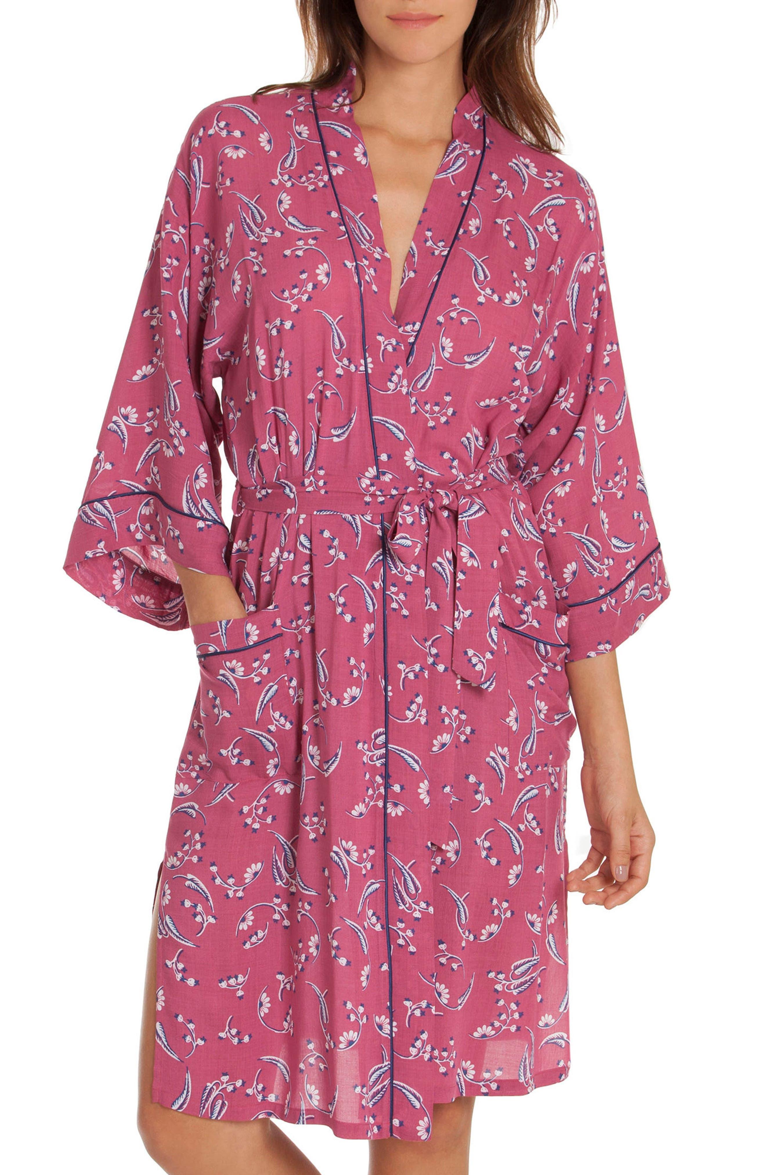 Short Robe,                             Main thumbnail 1, color,                             Cherry Print