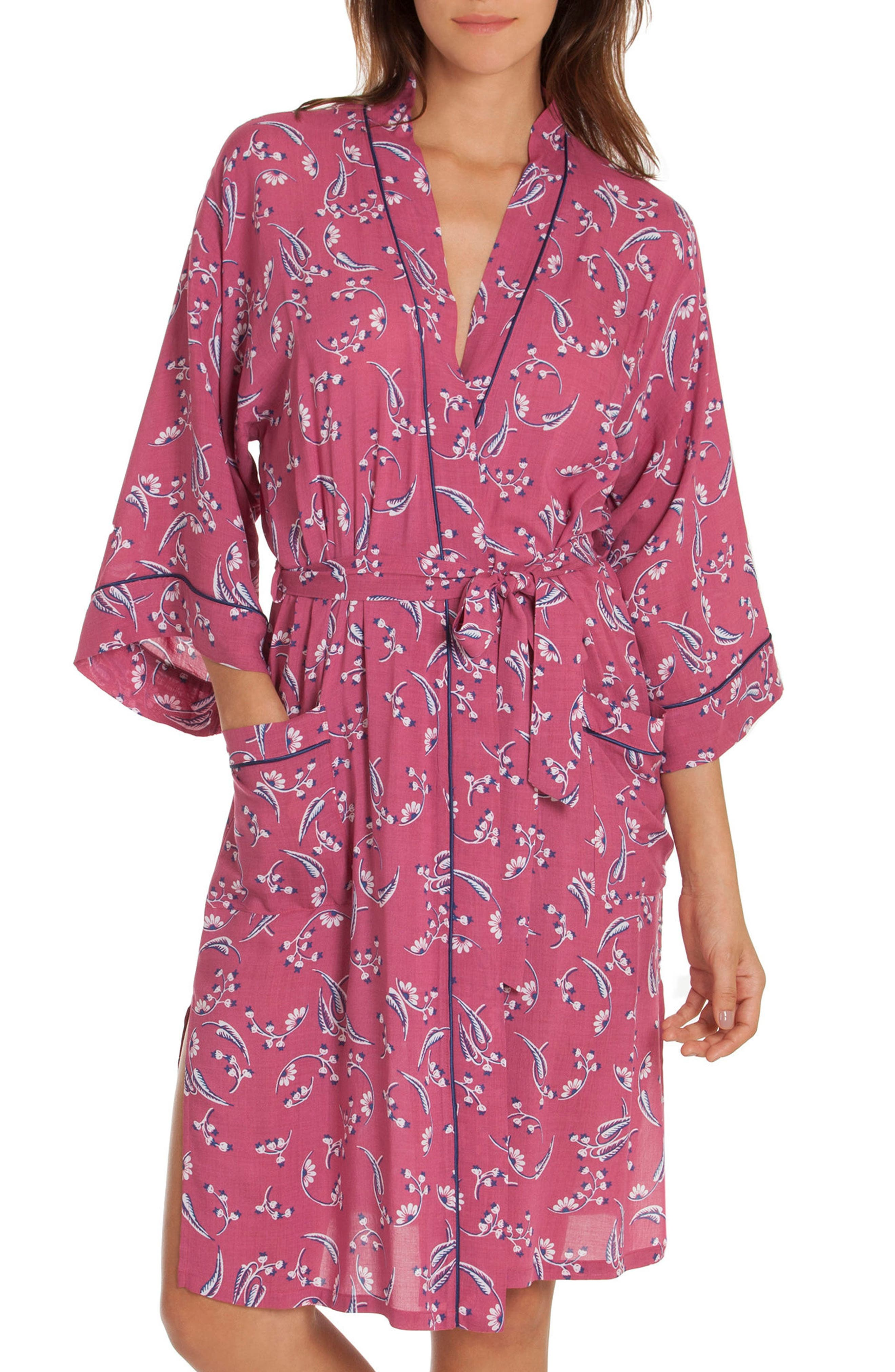Short Robe,                         Main,                         color, Cherry Print