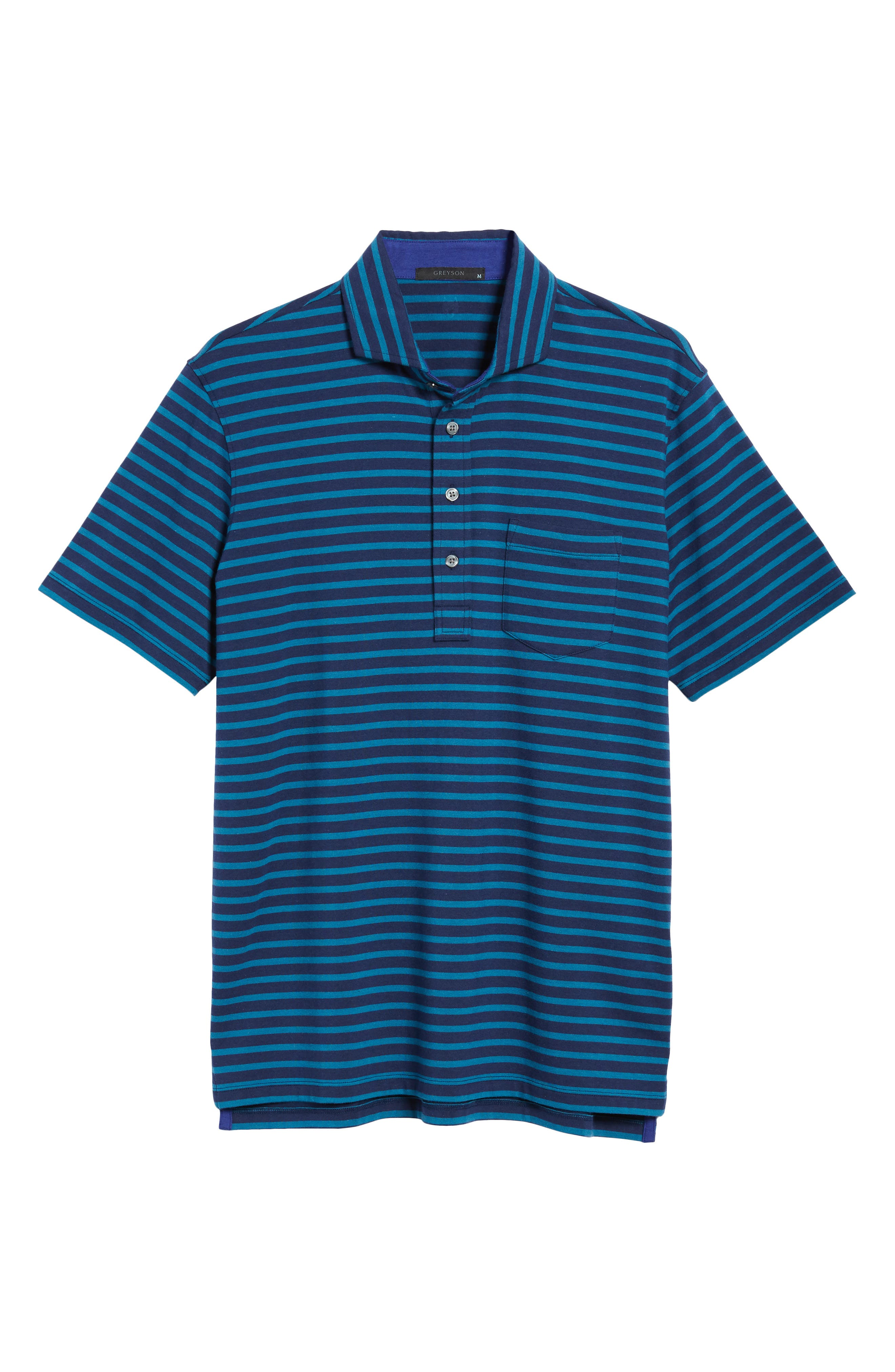 Wichita Stripe Polo,                             Alternate thumbnail 6, color,                             Maltese/ Caymen