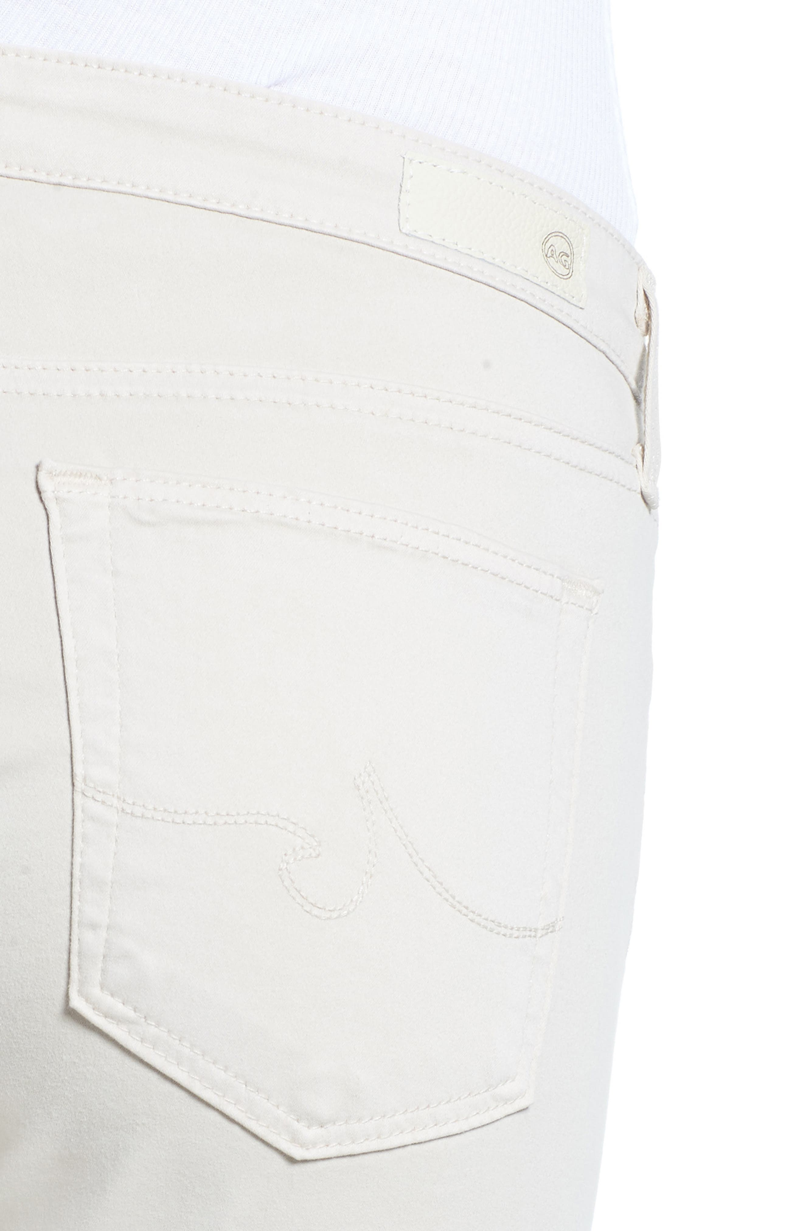 The Prima Crop Cigarette Jeans,                             Alternate thumbnail 6, color,                             Mineral Veil