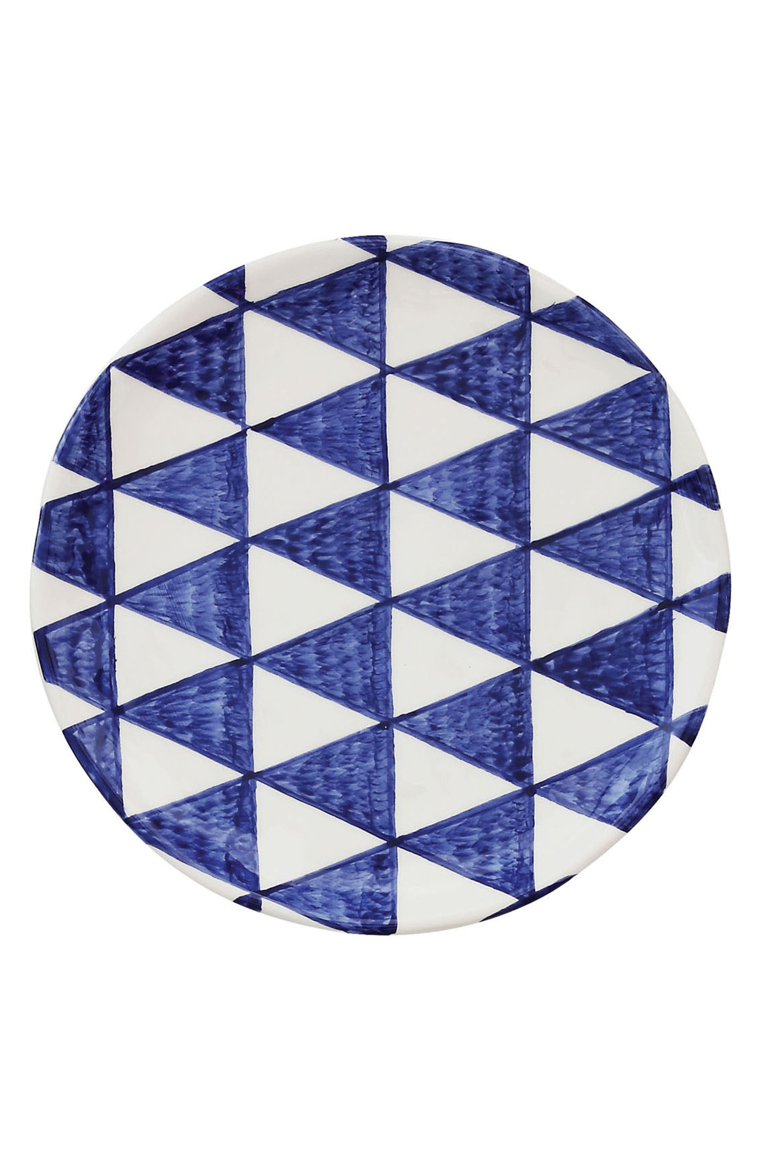 Ceramic Plate,                         Main,                         color, Blue