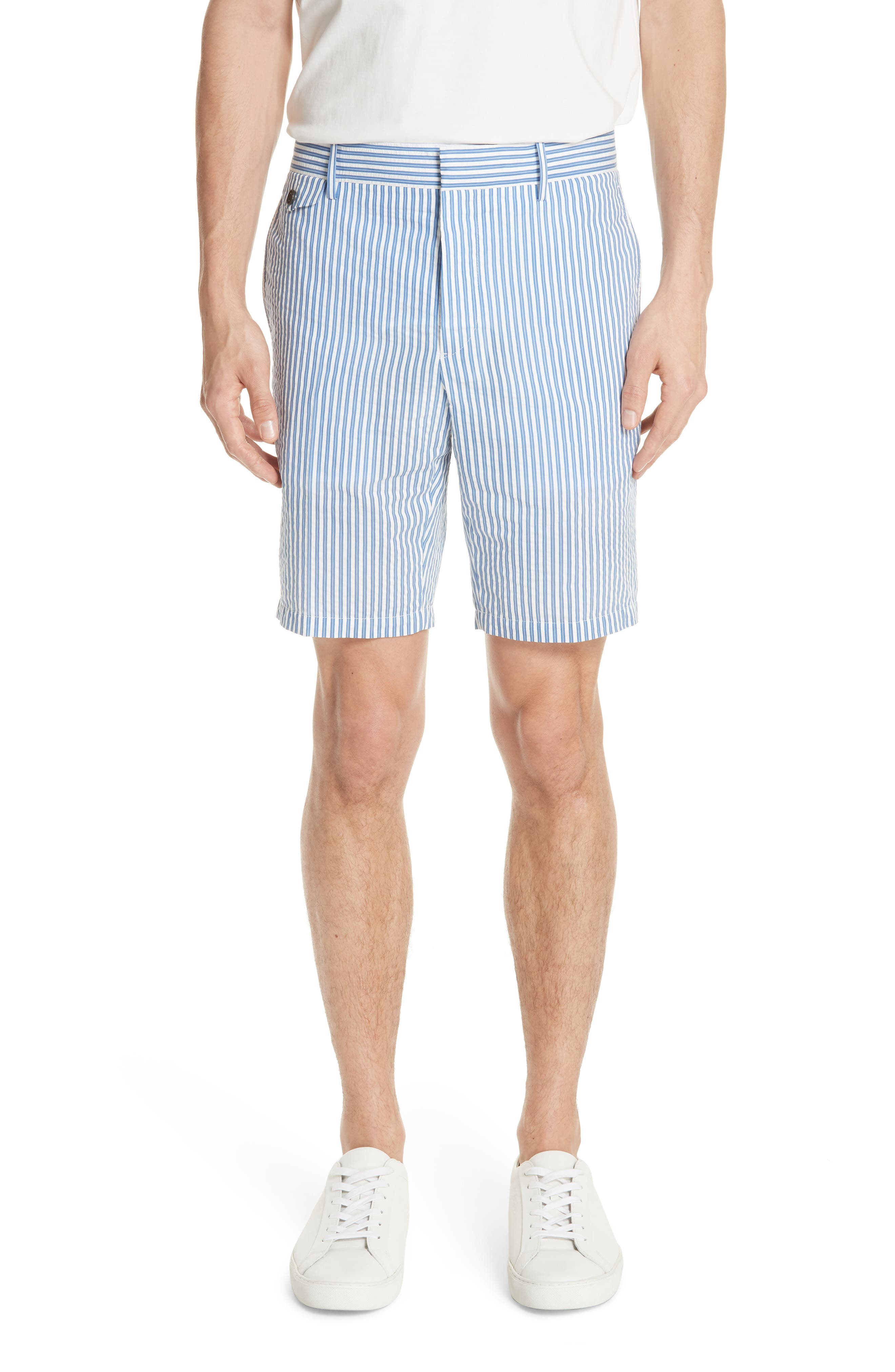 Serpentine Stripe Shorts,                             Main thumbnail 1, color,                             Navy