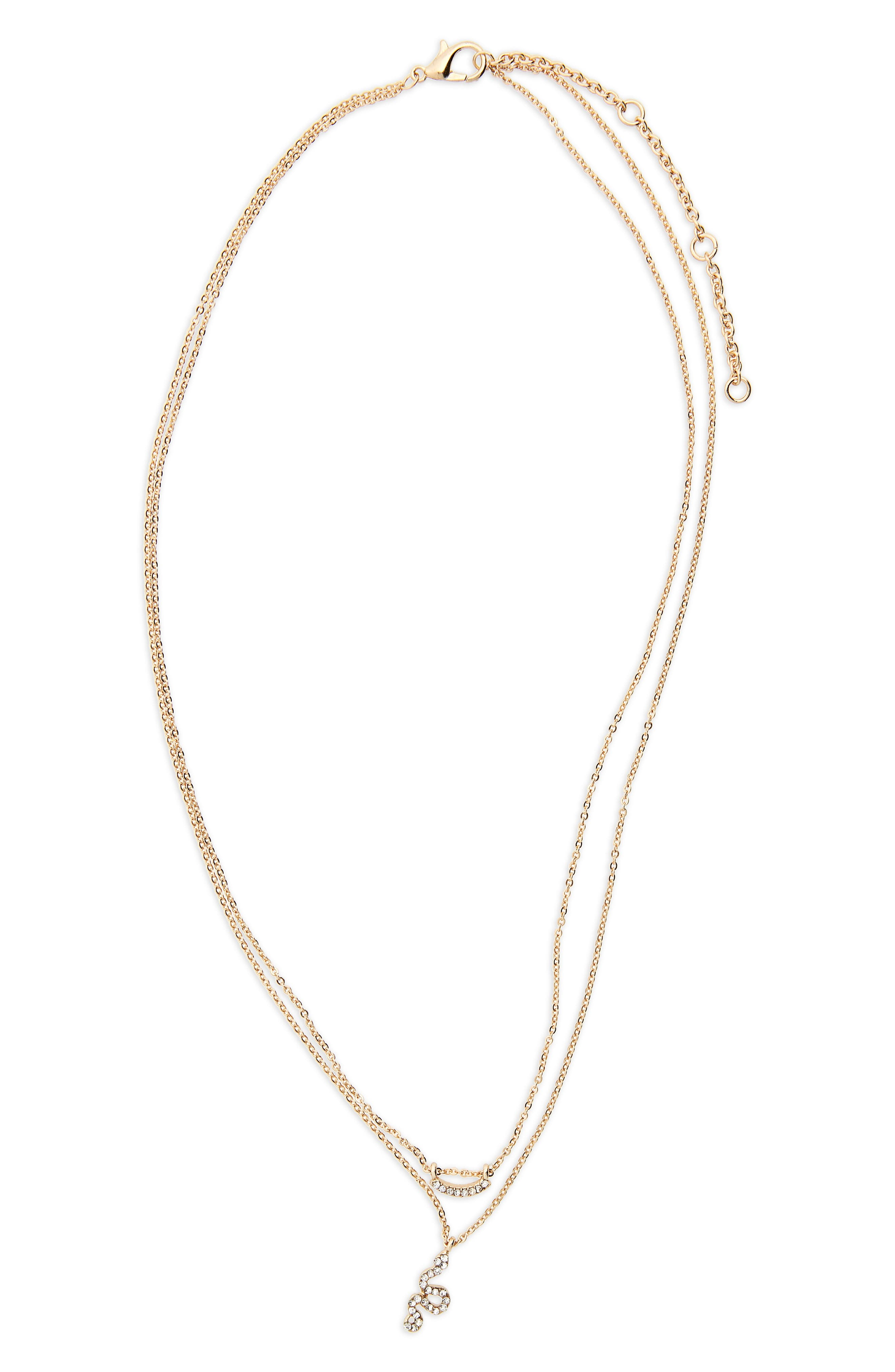 Crystal Snake Layered Necklace,                         Main,                         color, Gold/ Crystal
