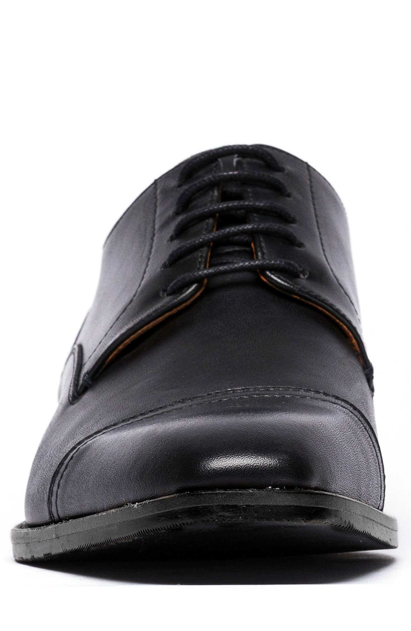 Franklin Cap Toe Derby,                             Alternate thumbnail 4, color,                             Nero Leather