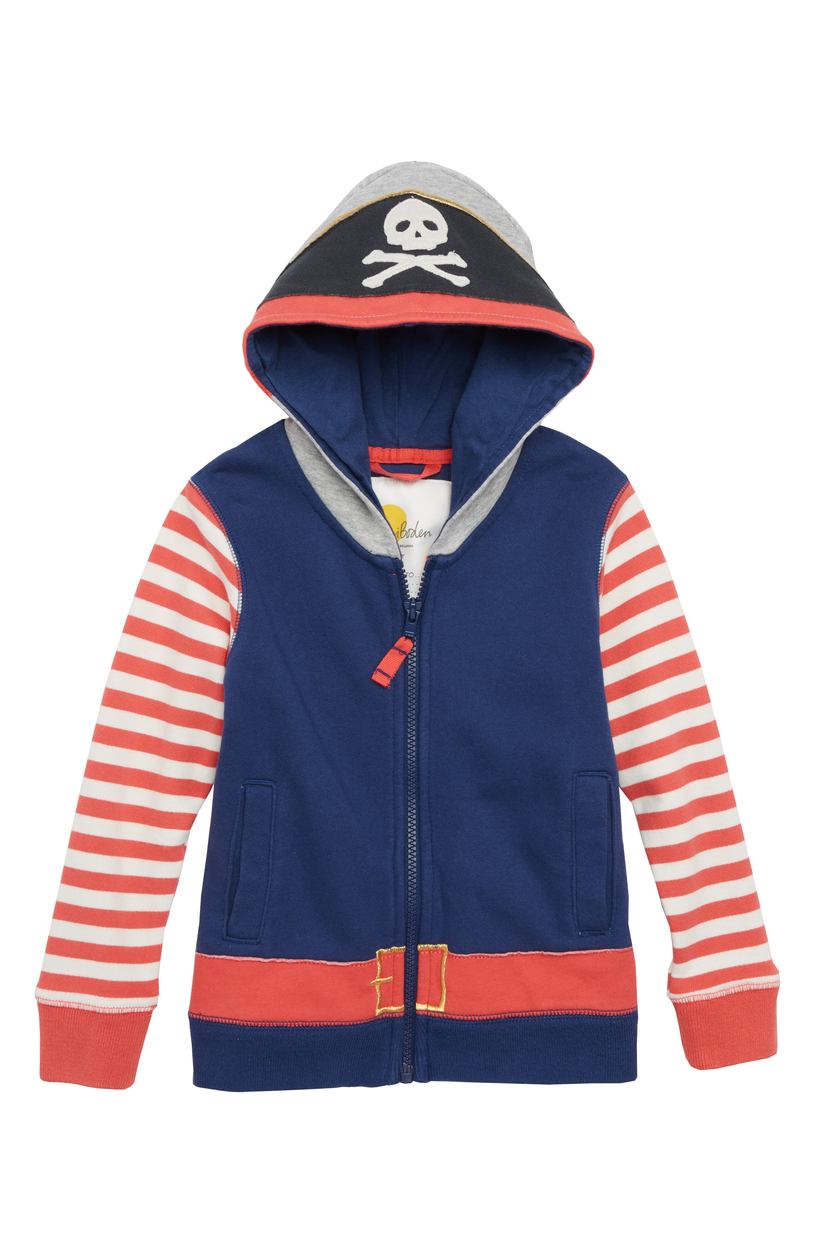 Novelty Pirate Hoodie,                         Main,                         color, Beacon Blue Pirate