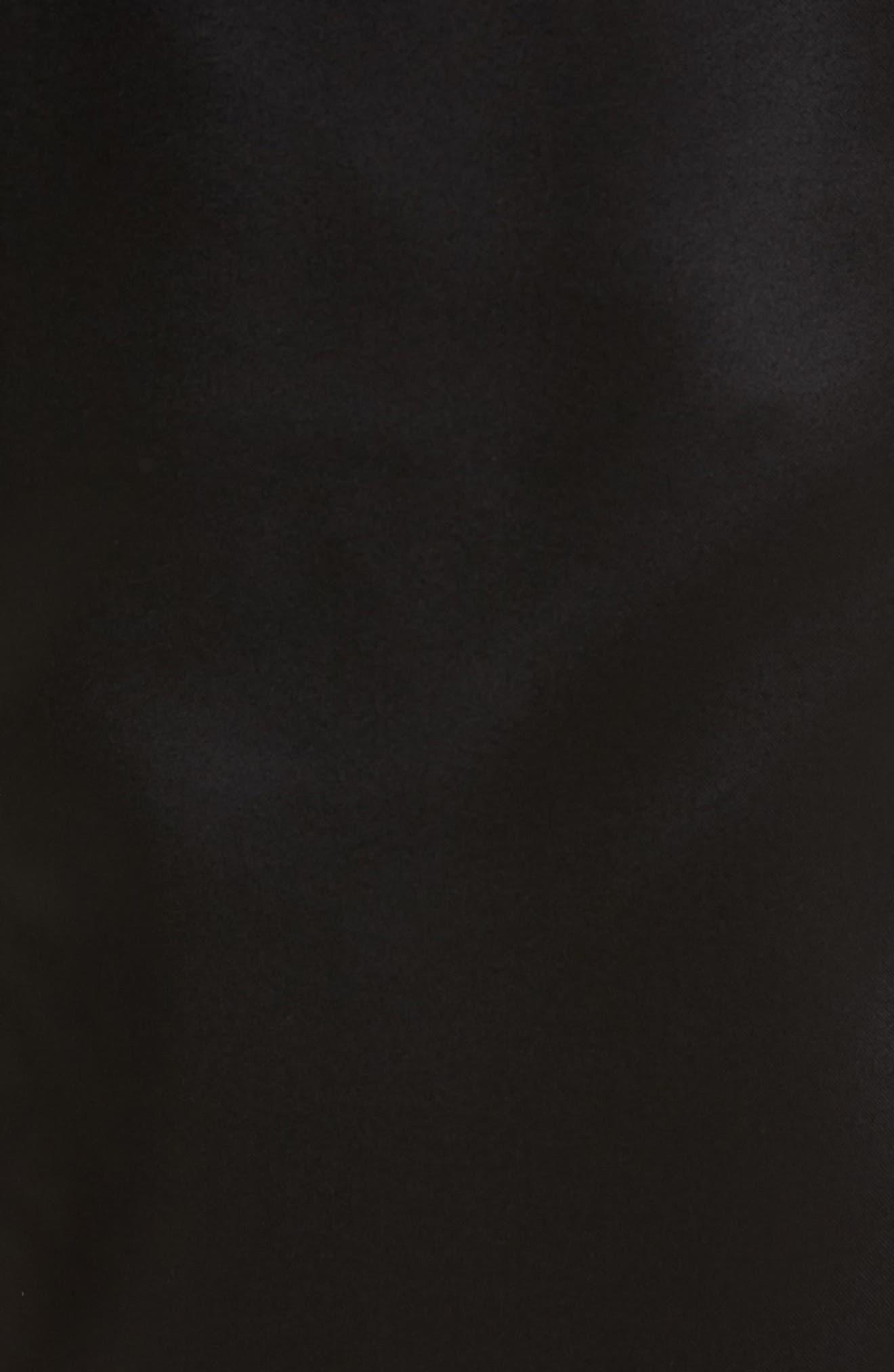 Satin Shorts,                             Alternate thumbnail 5, color,                             Black