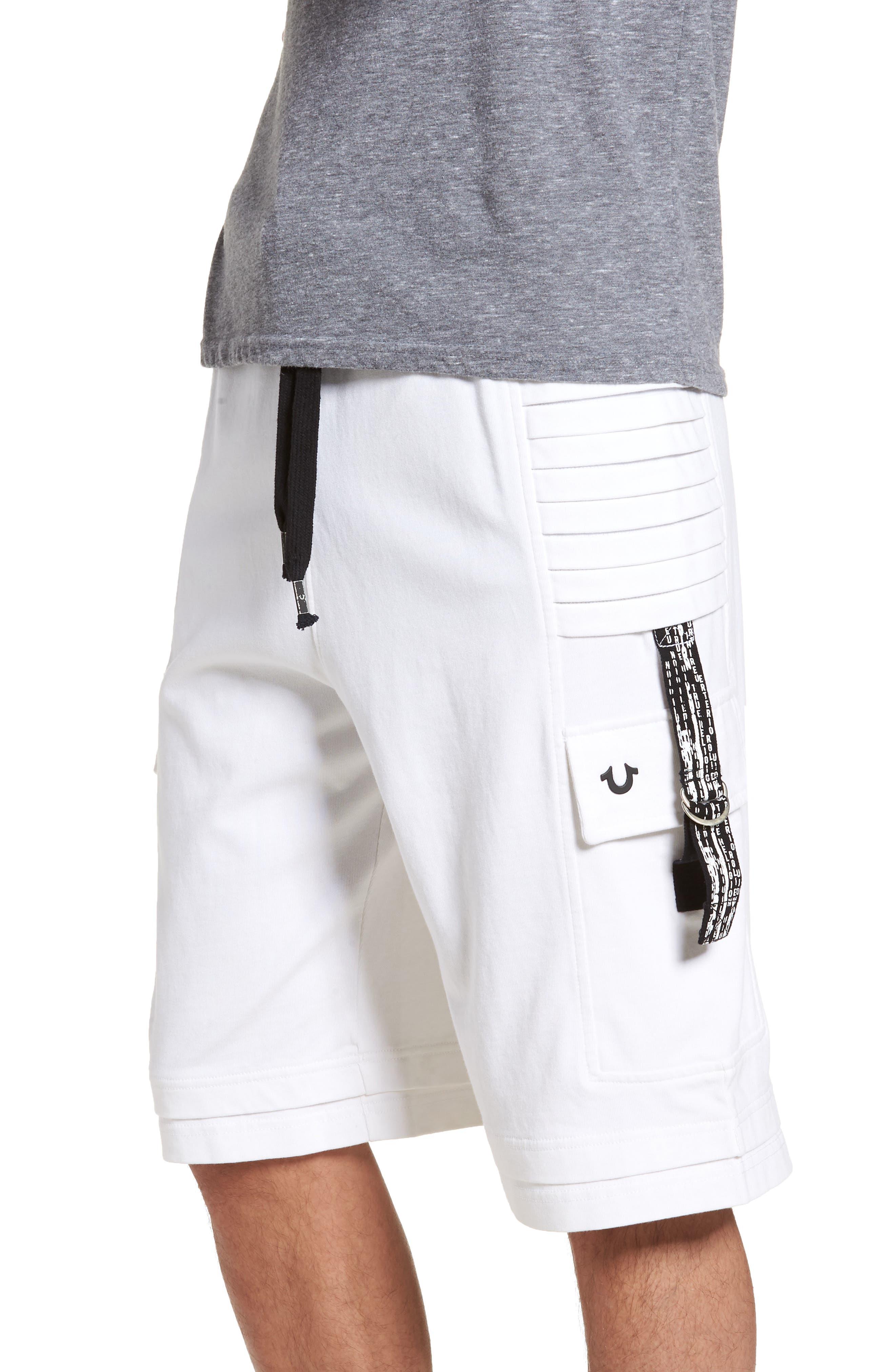 Moto Shorts,                             Alternate thumbnail 3, color,                             White