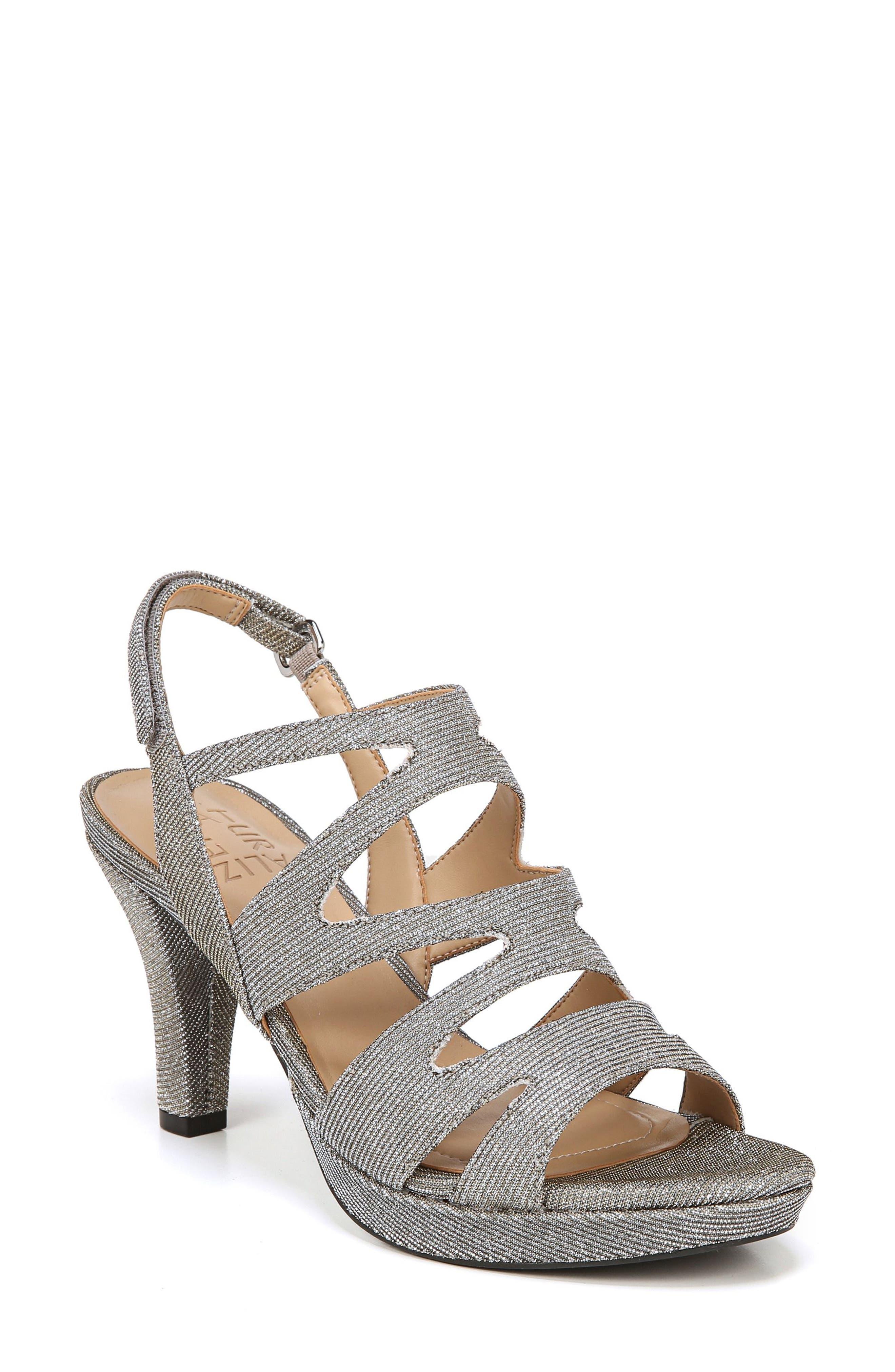 'Pressley' Slingback Platform Sandal,                             Main thumbnail 1, color,                             Alloy Sparkle Fabric