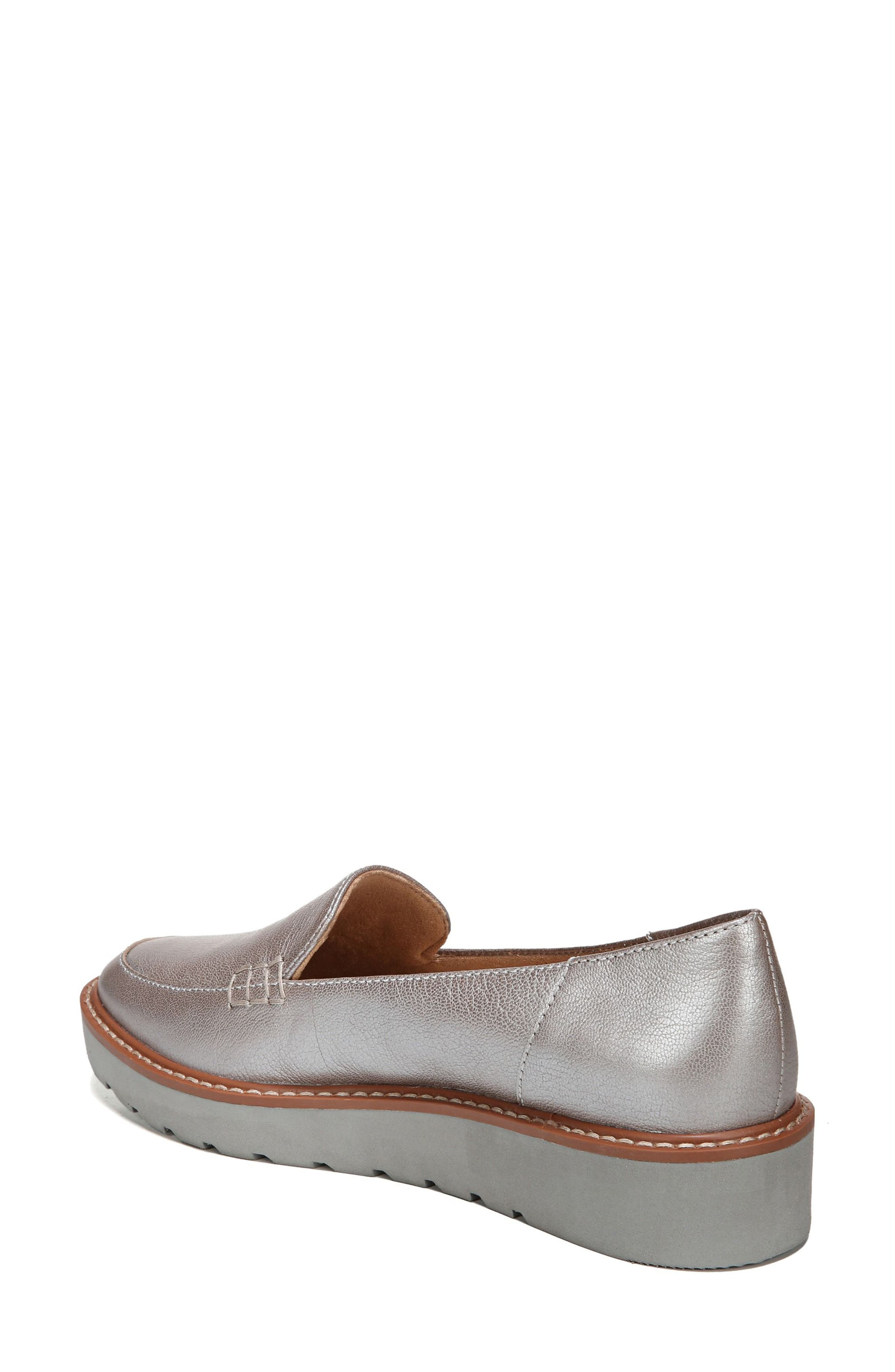 Andie Loafer,                             Alternate thumbnail 2, color,                             Silver Leather