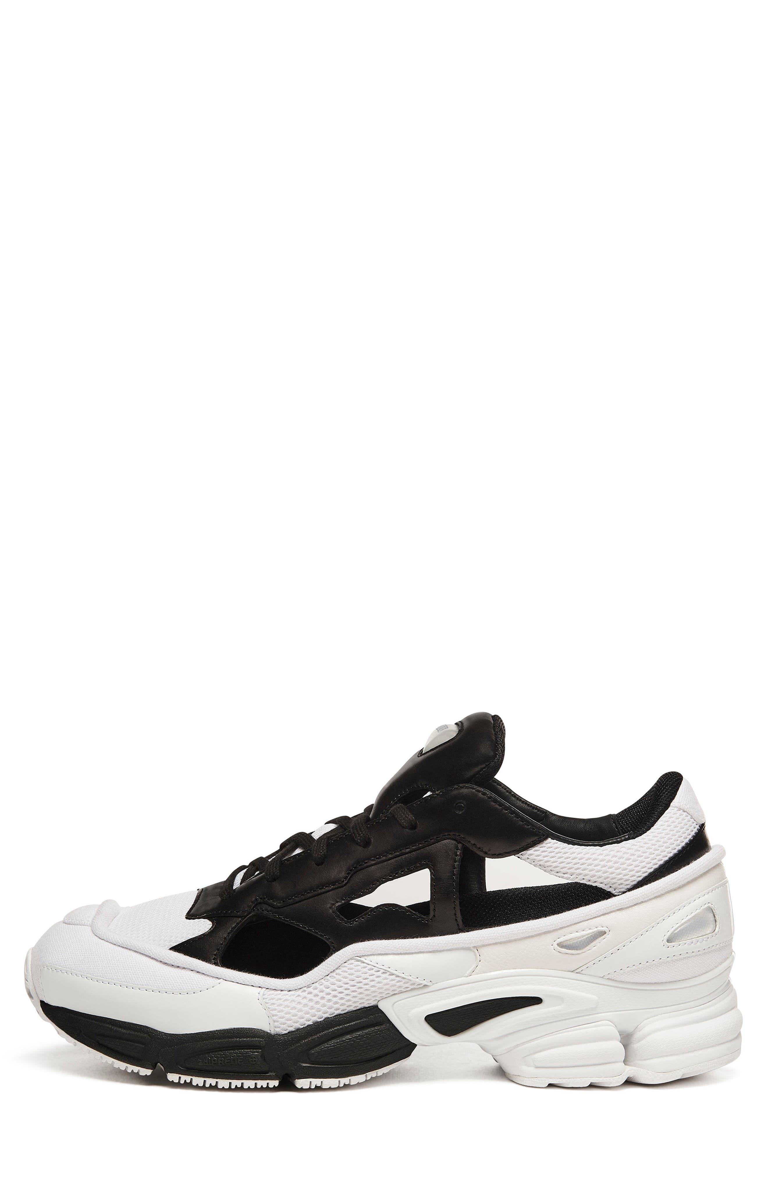 adidas x Raf Simons Replicant Ozweego Sneaker,                             Main thumbnail 1, color,                             Core Black/ Cream White/ White