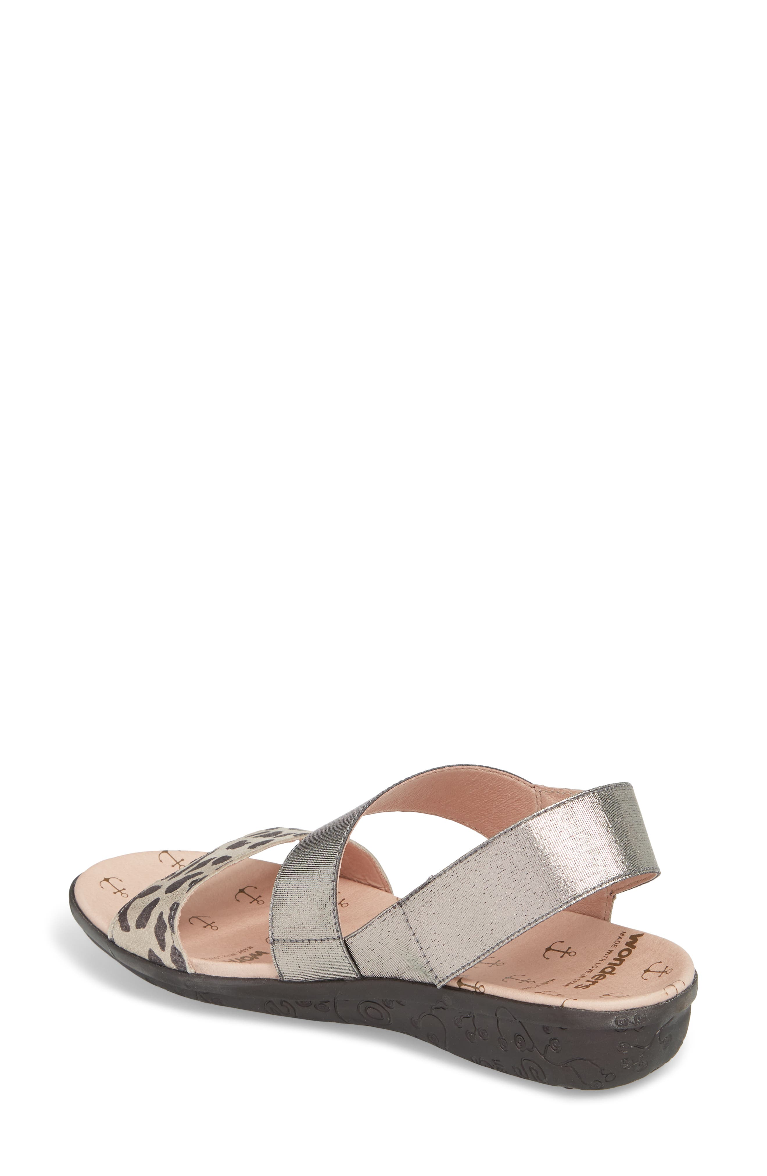 Slingback Sandal,                             Alternate thumbnail 2, color,                             Leo Leather