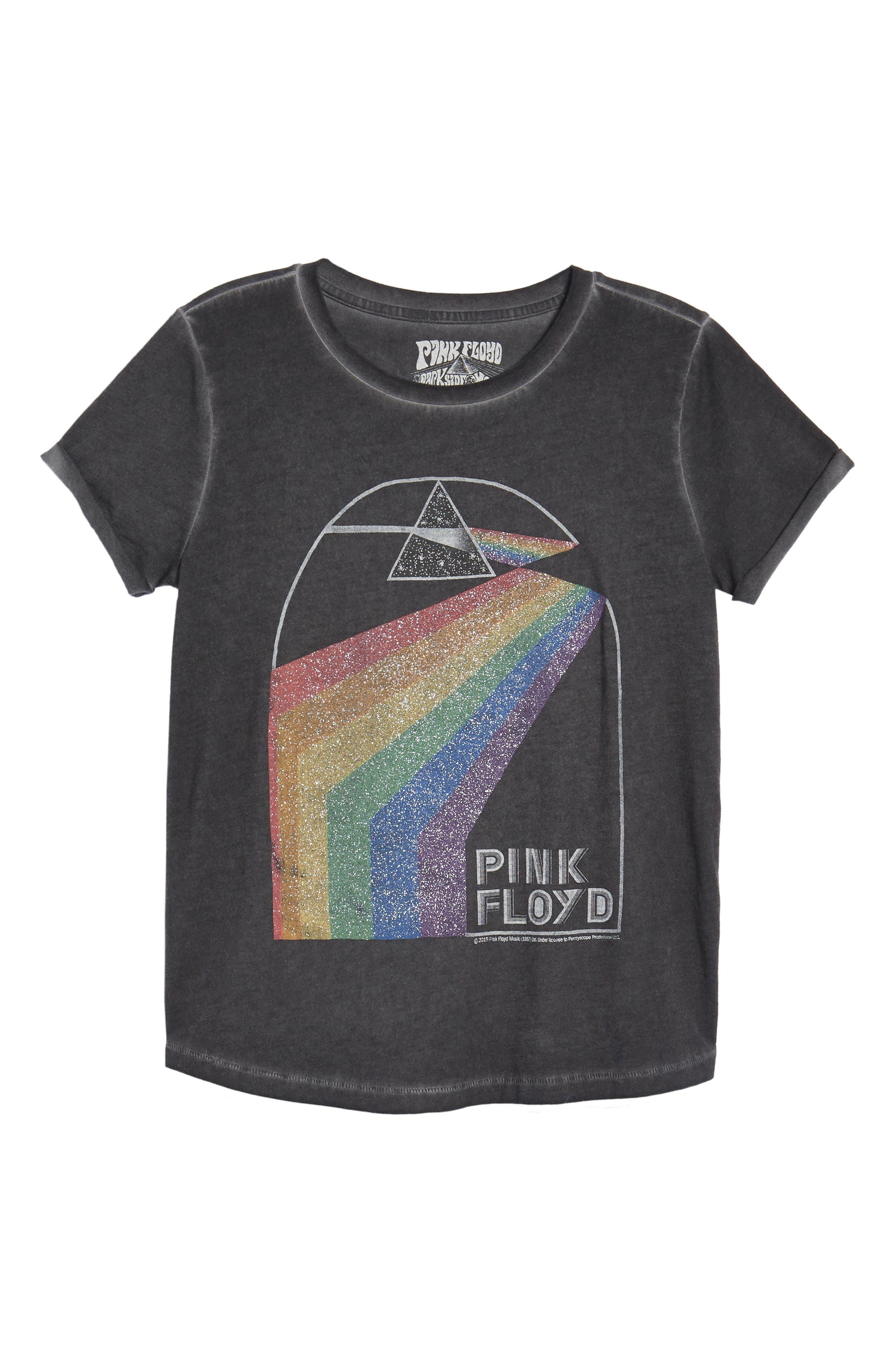 Pink Floyd Metallic Tee,                             Alternate thumbnail 7, color,                             Lucky Black