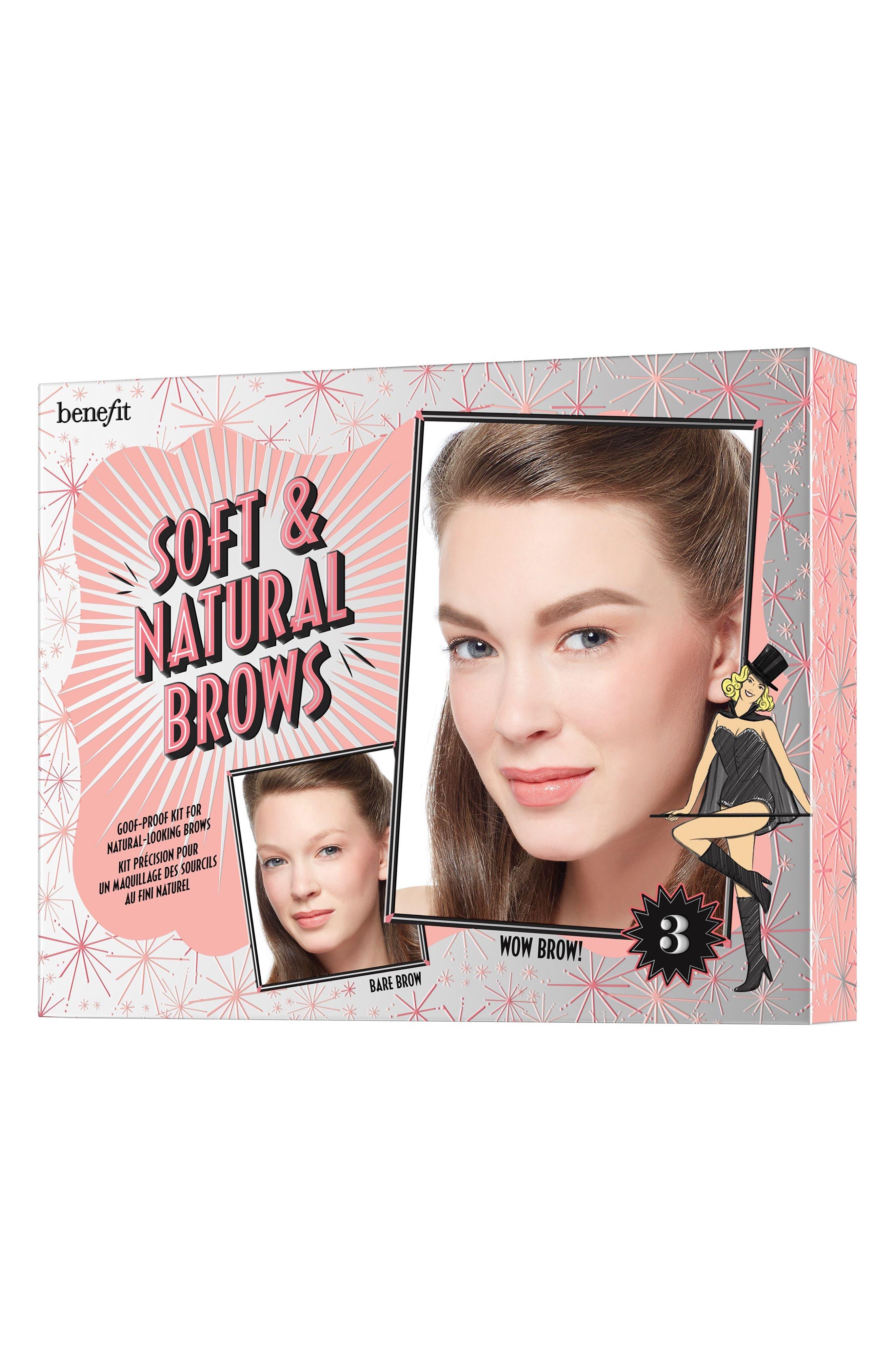 Benefit Soft & Natural Brows Kit,                             Alternate thumbnail 3, color,                             03 Medium