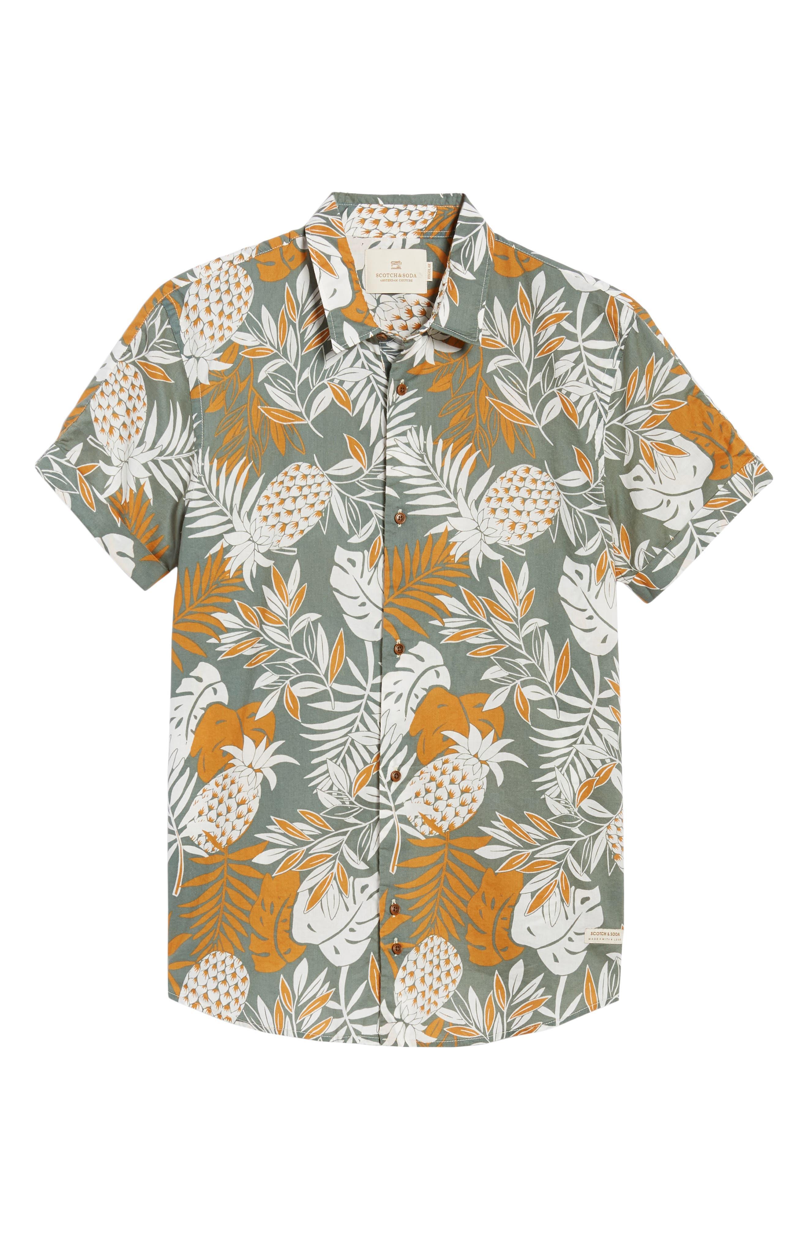 Floral Print Woven Shirt,                             Alternate thumbnail 6, color,                             Combo A