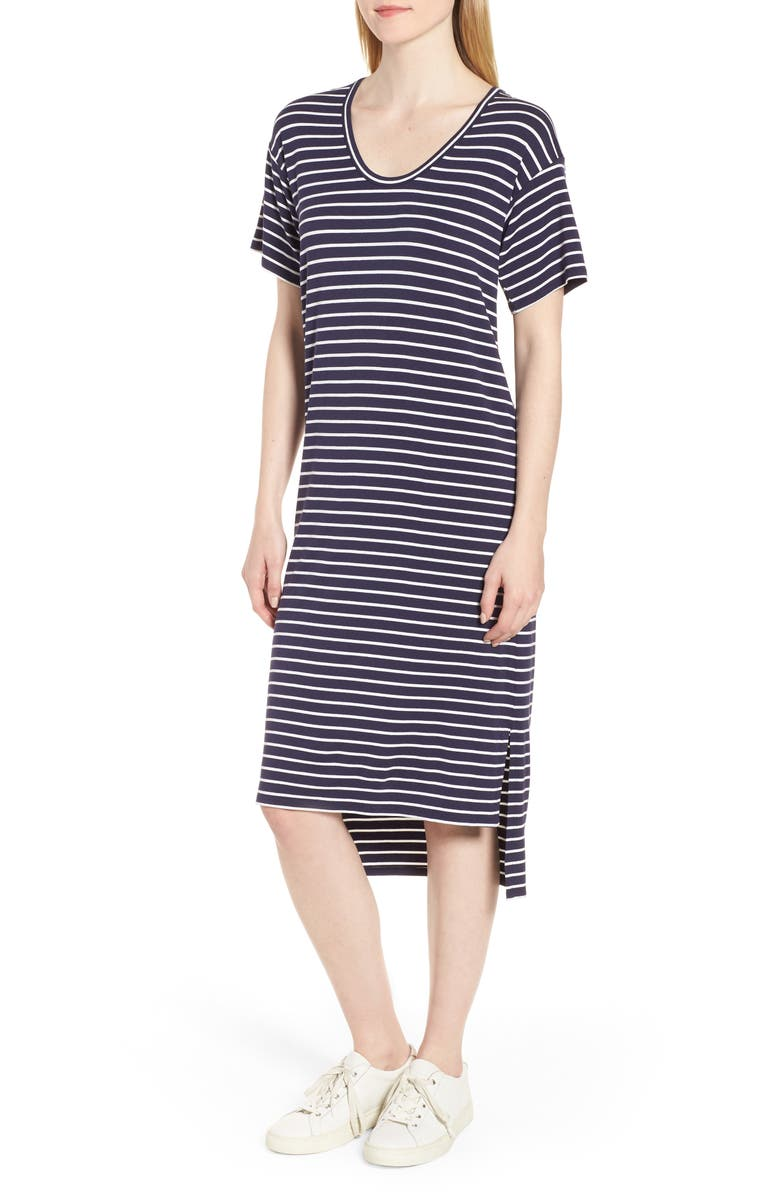High/Low Stripe Dress