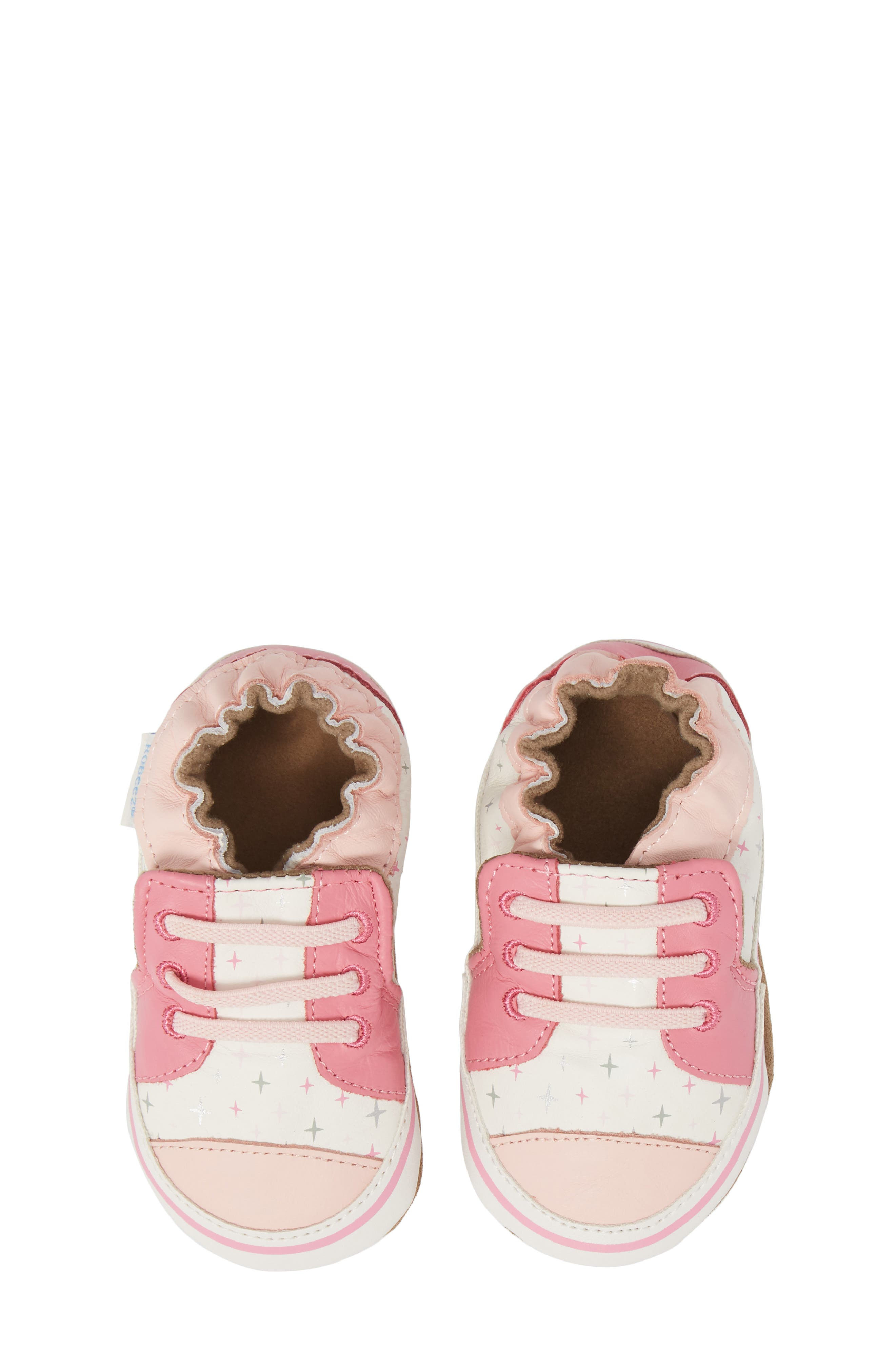 Alternate Image 1 Selected - Robeez® Trendy Trainer Sneaker Crib Shoe (Baby)