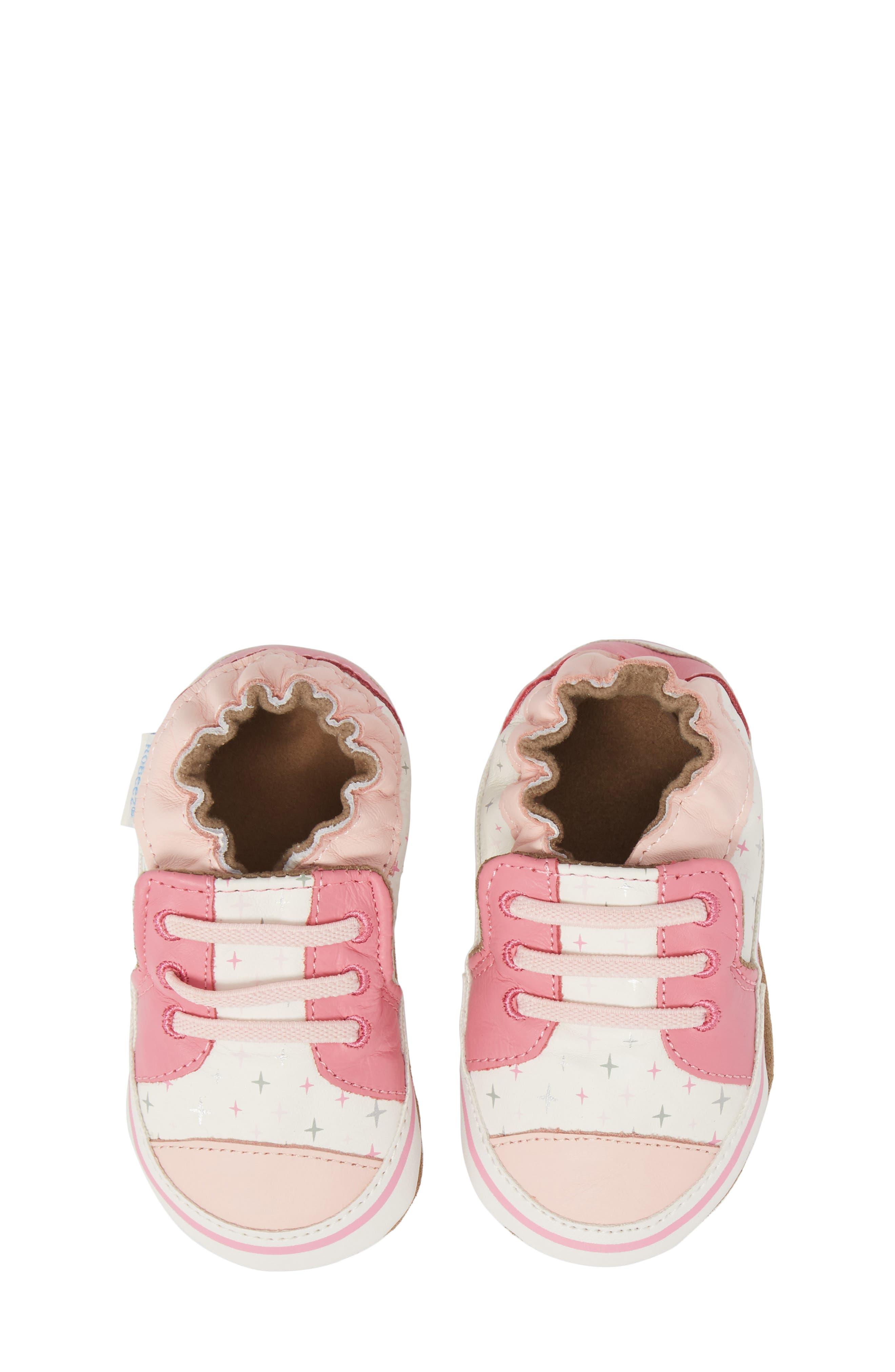 Main Image - Robeez® Trendy Trainer Sneaker Crib Shoe (Baby)