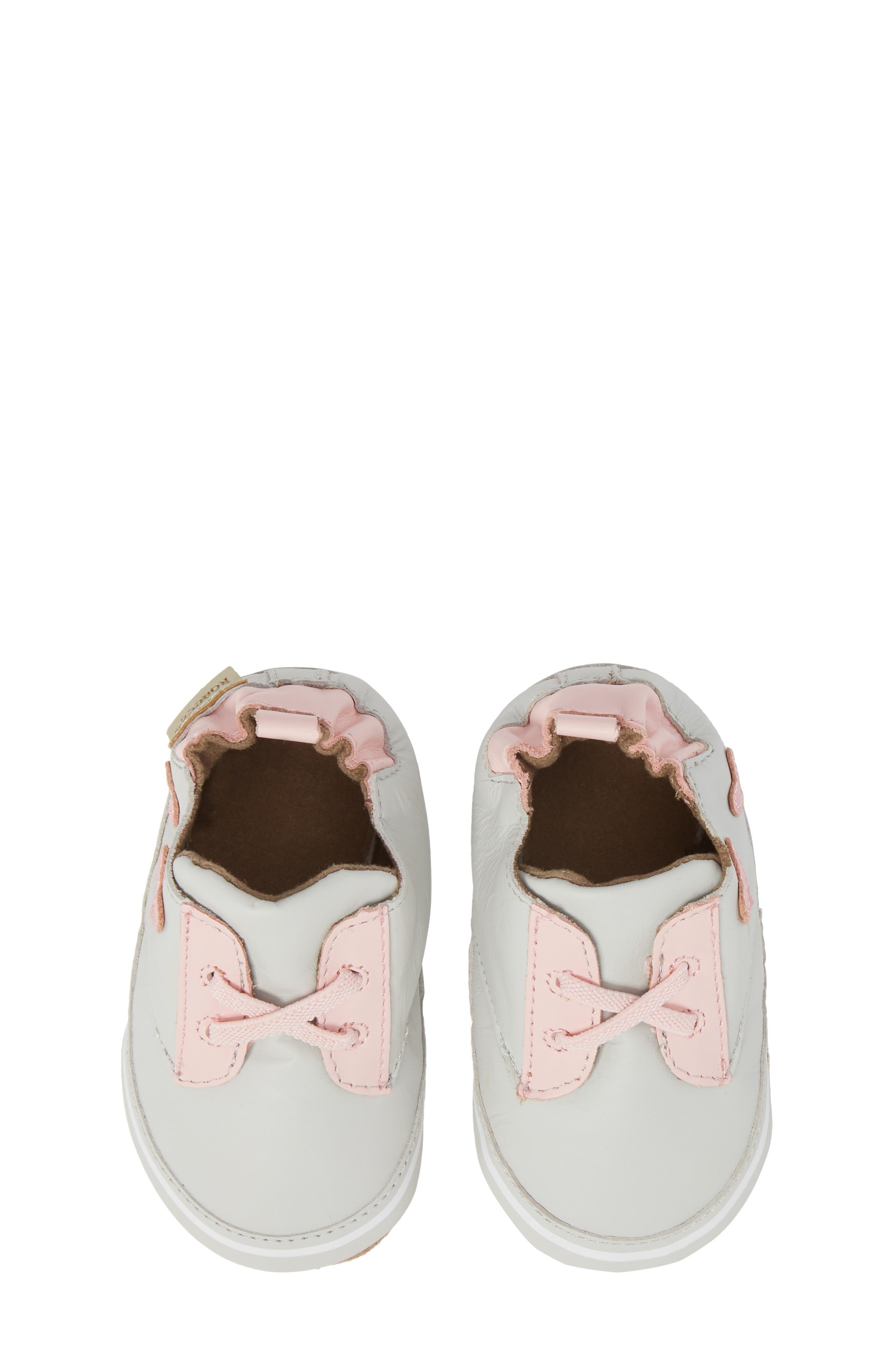 Heartbreaker Slip-On Crib Sneaker,                             Main thumbnail 1, color,                             Light Grey