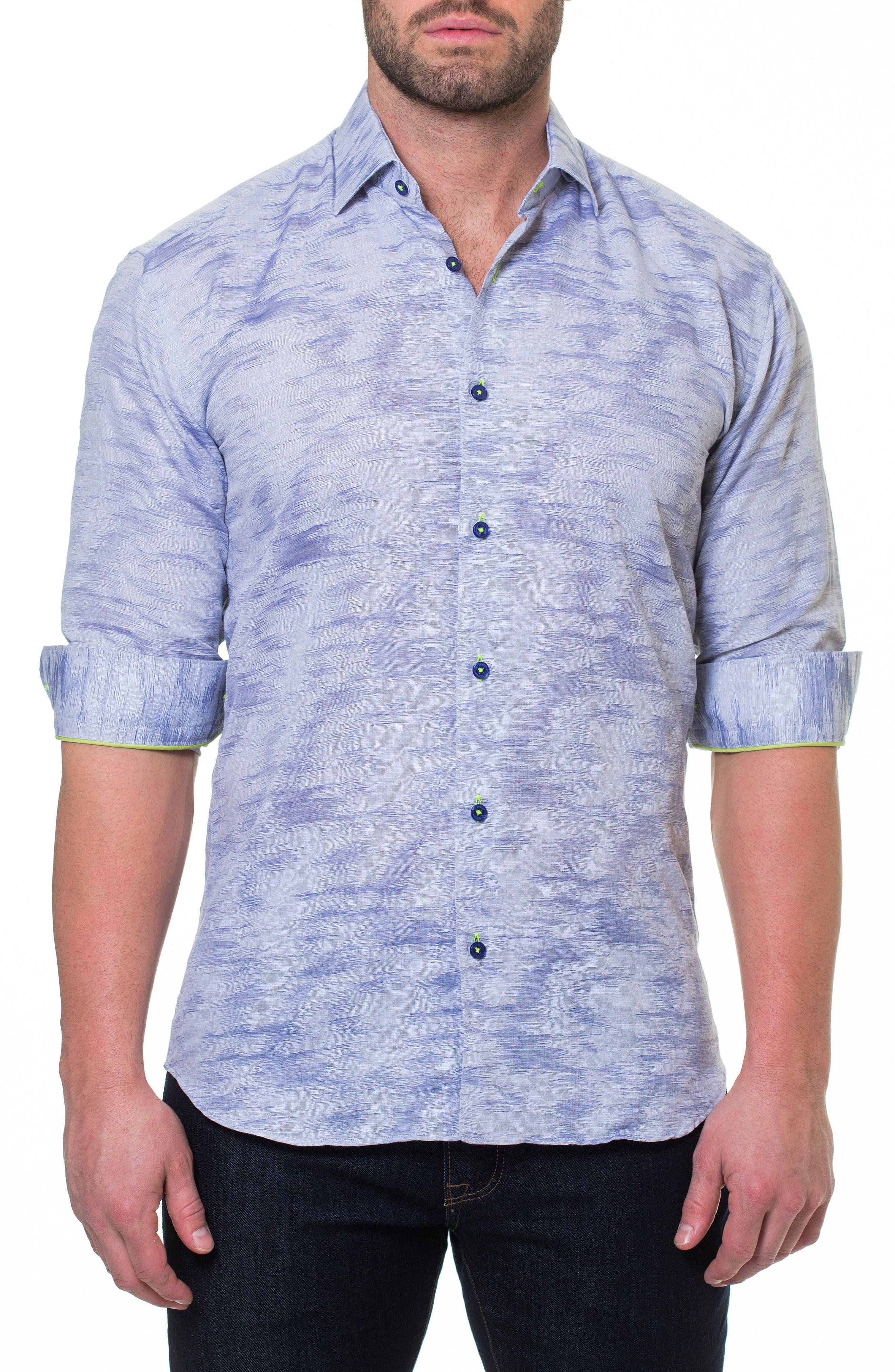 Luxor Richter Slim Fit Sport Shirt,                             Main thumbnail 1, color,                             Grey