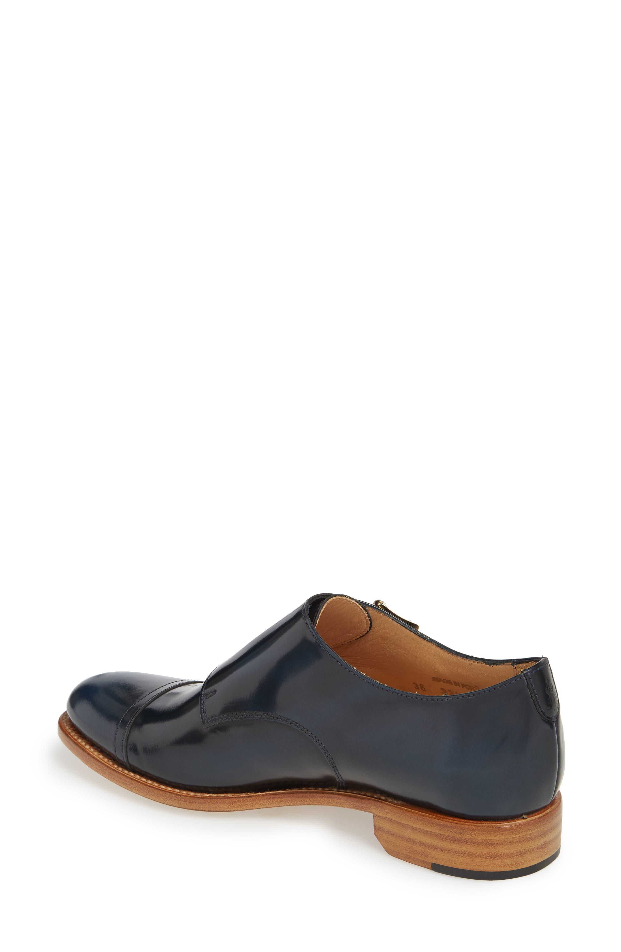 Mr. Colin Double Monk Strap Shoe,                             Alternate thumbnail 2, color,                             Ocean