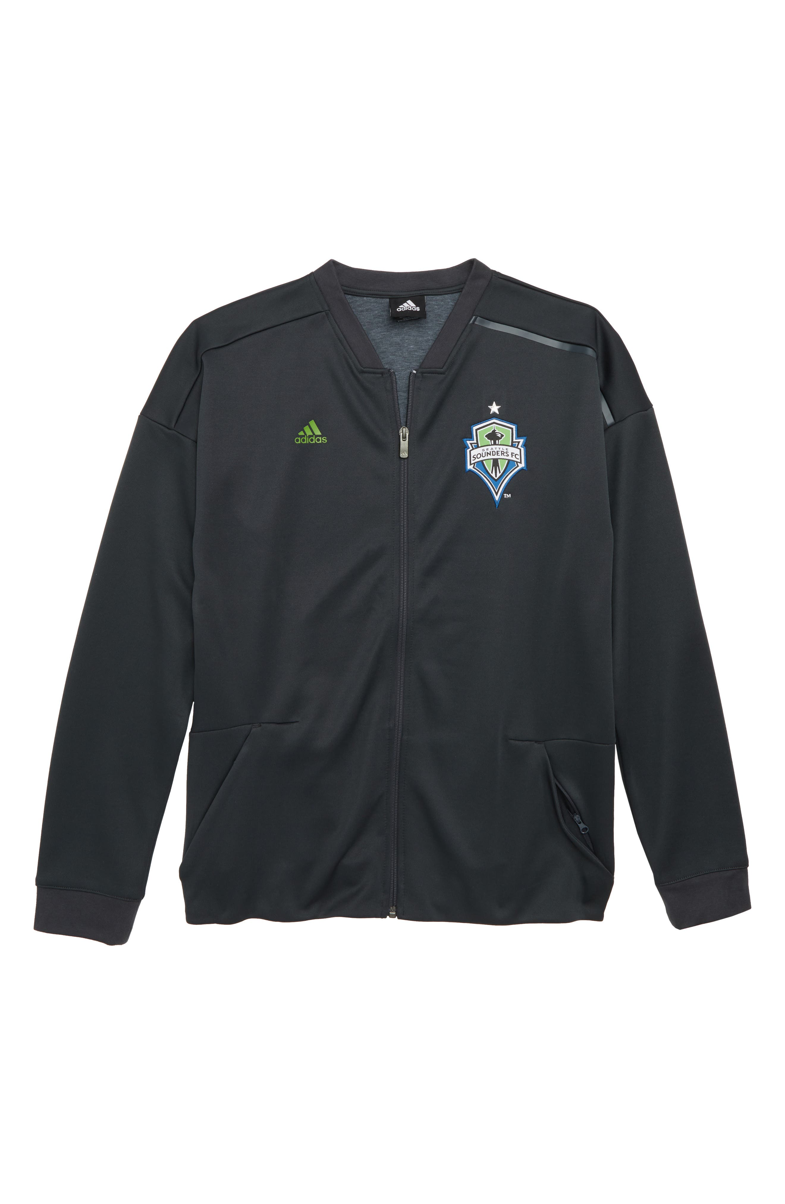 adidas MLS Seattle Sounders FC Anthem Full Zip Jacket (Big Boys)