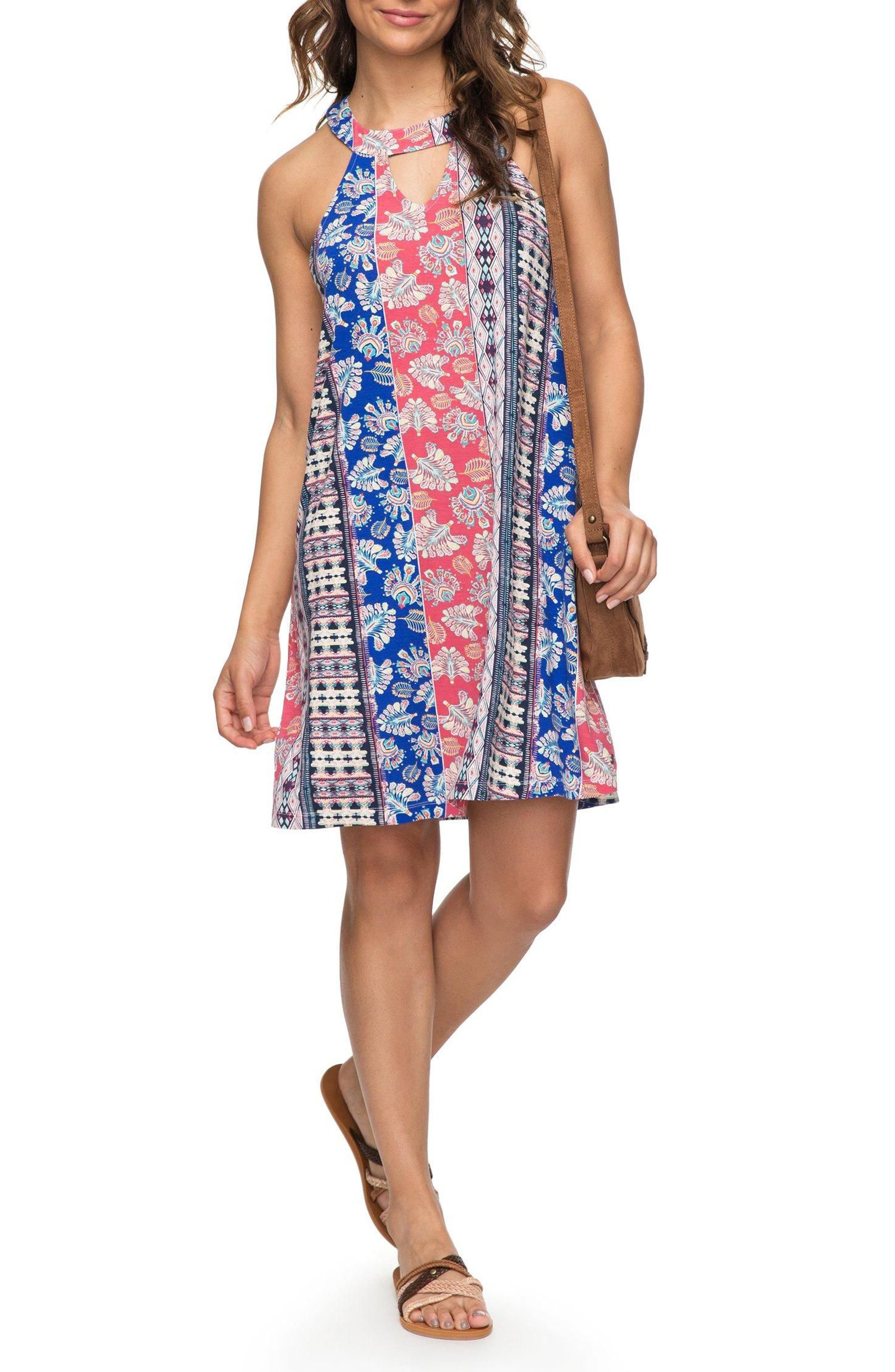 Alternate Image 1 Selected - Roxy Print Halter Dress