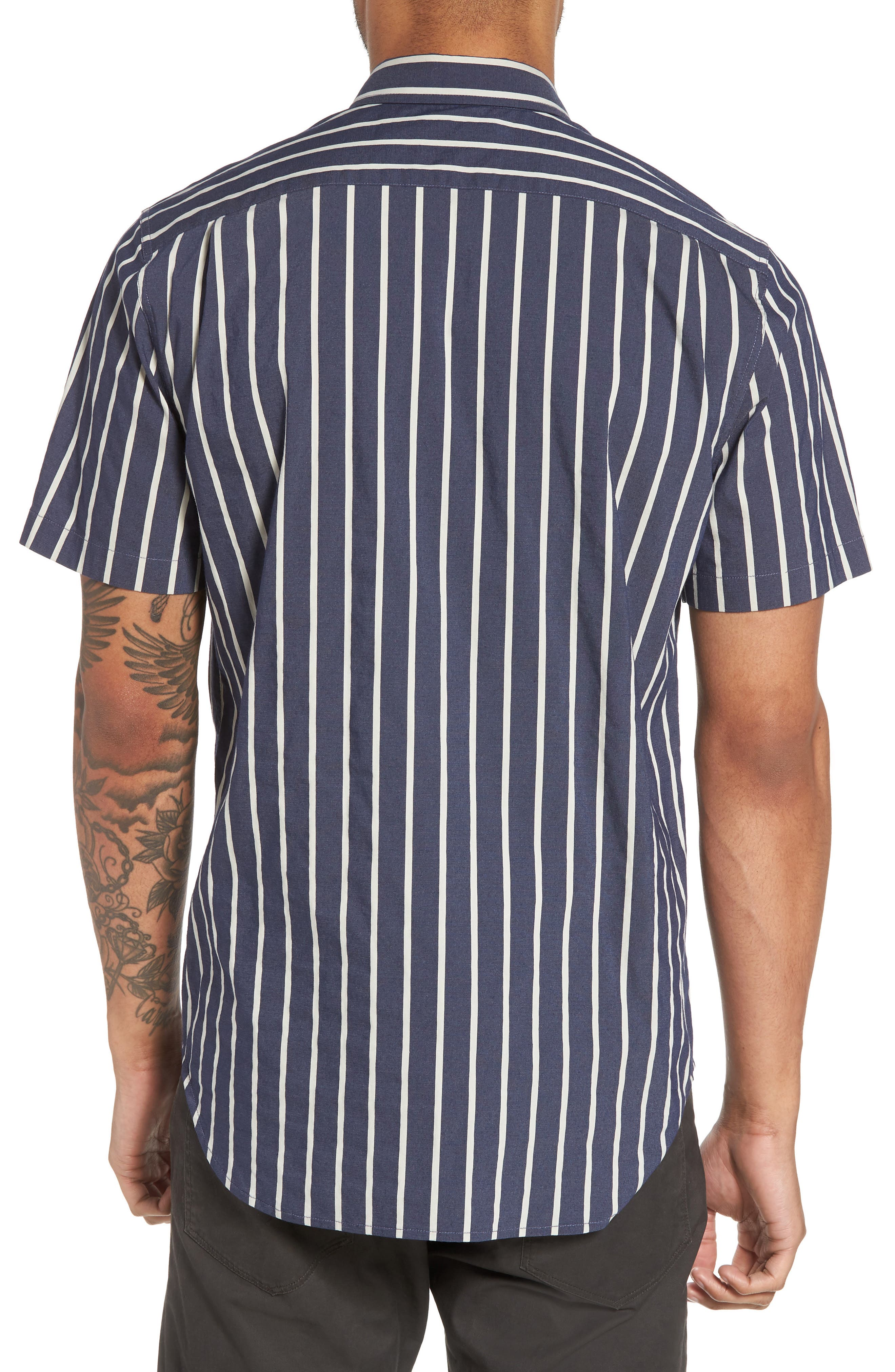 Regular Fit Stretch Short Sleeve Sport Shirt,                             Alternate thumbnail 3, color,                             New Coastal