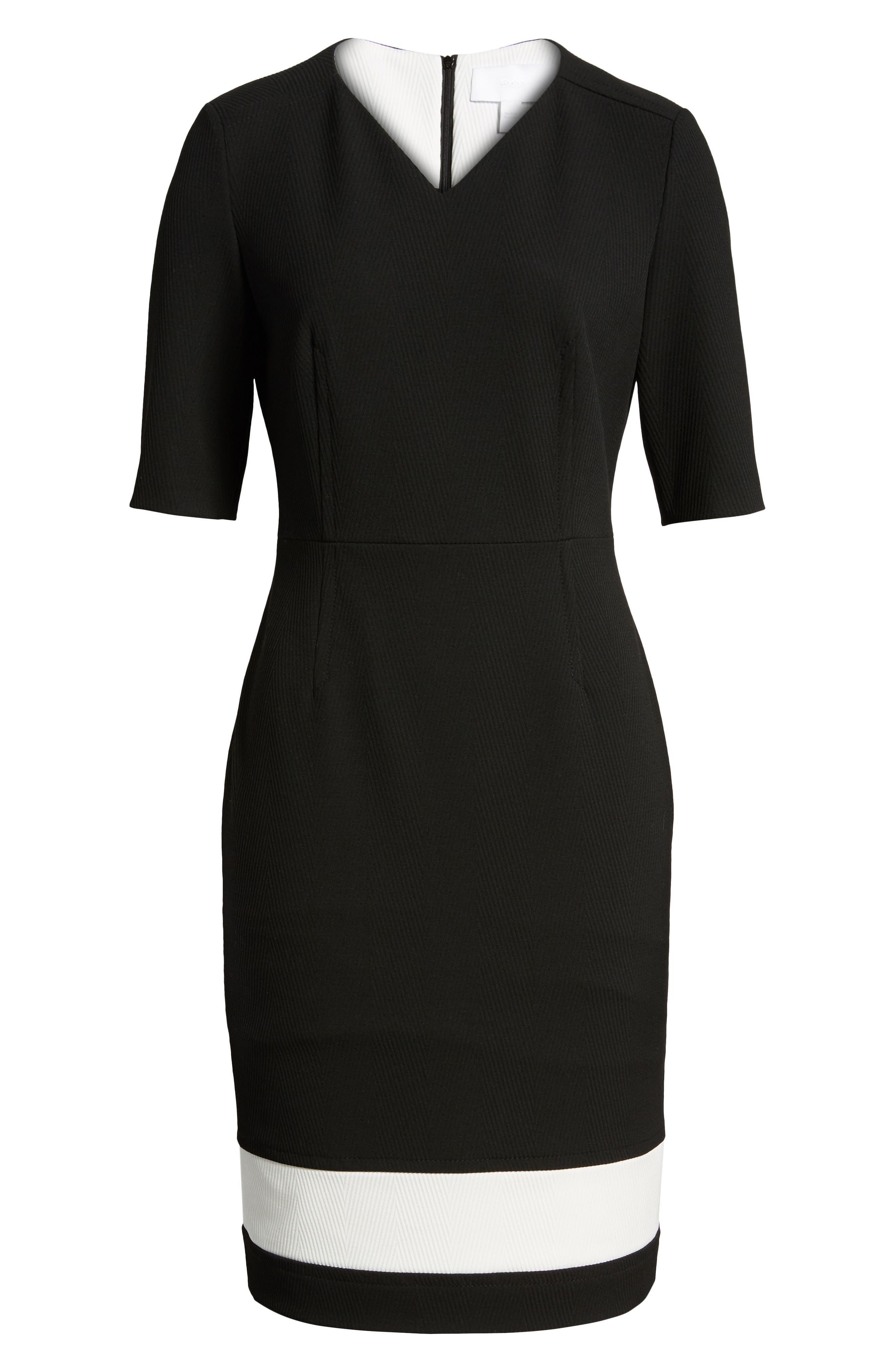 Dasmia Sheath Dress,                             Alternate thumbnail 7, color,                             Black