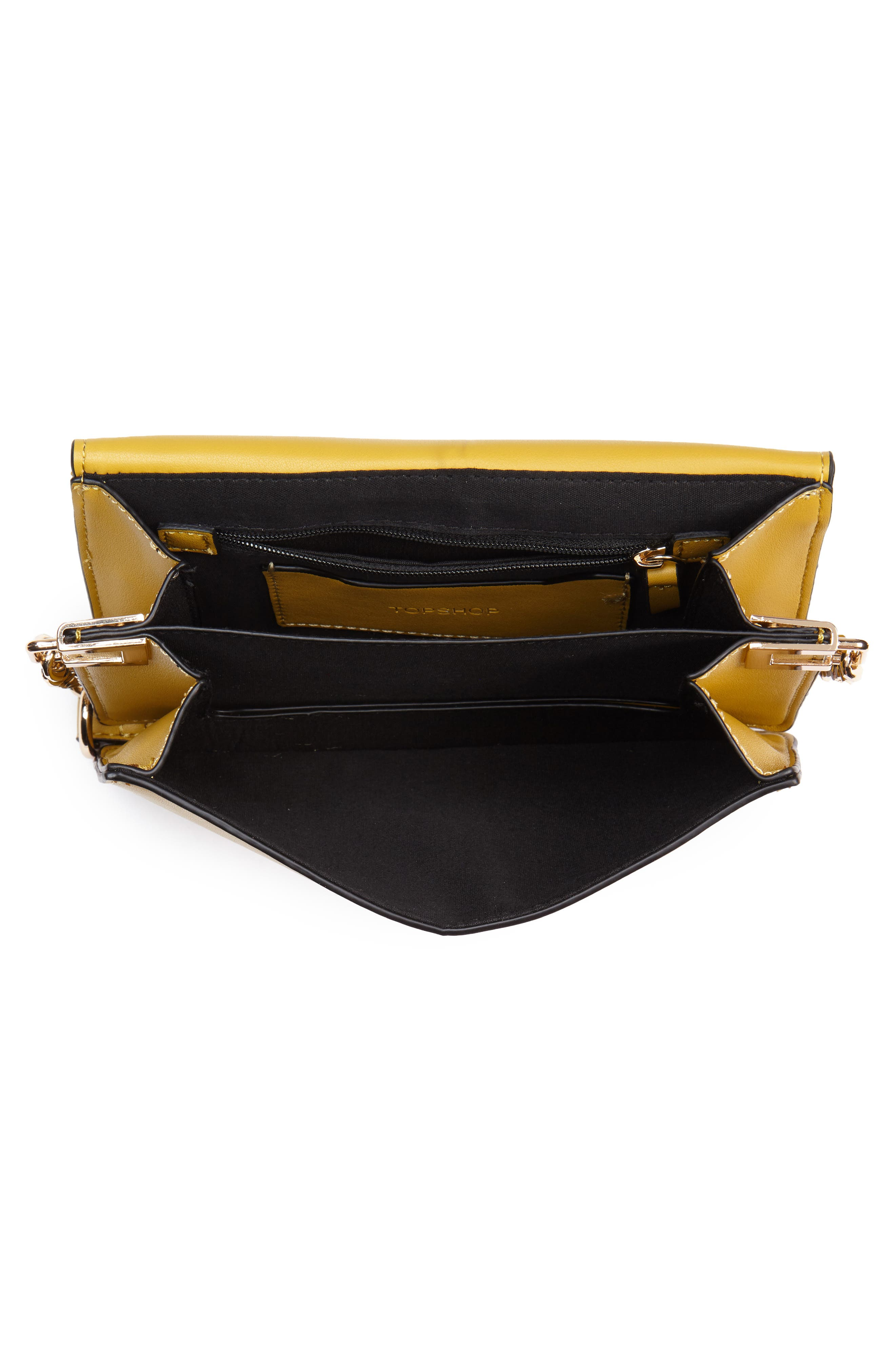Seline Faux Leather Crossbody Bag,                             Alternate thumbnail 4, color,                             Yellow Multi