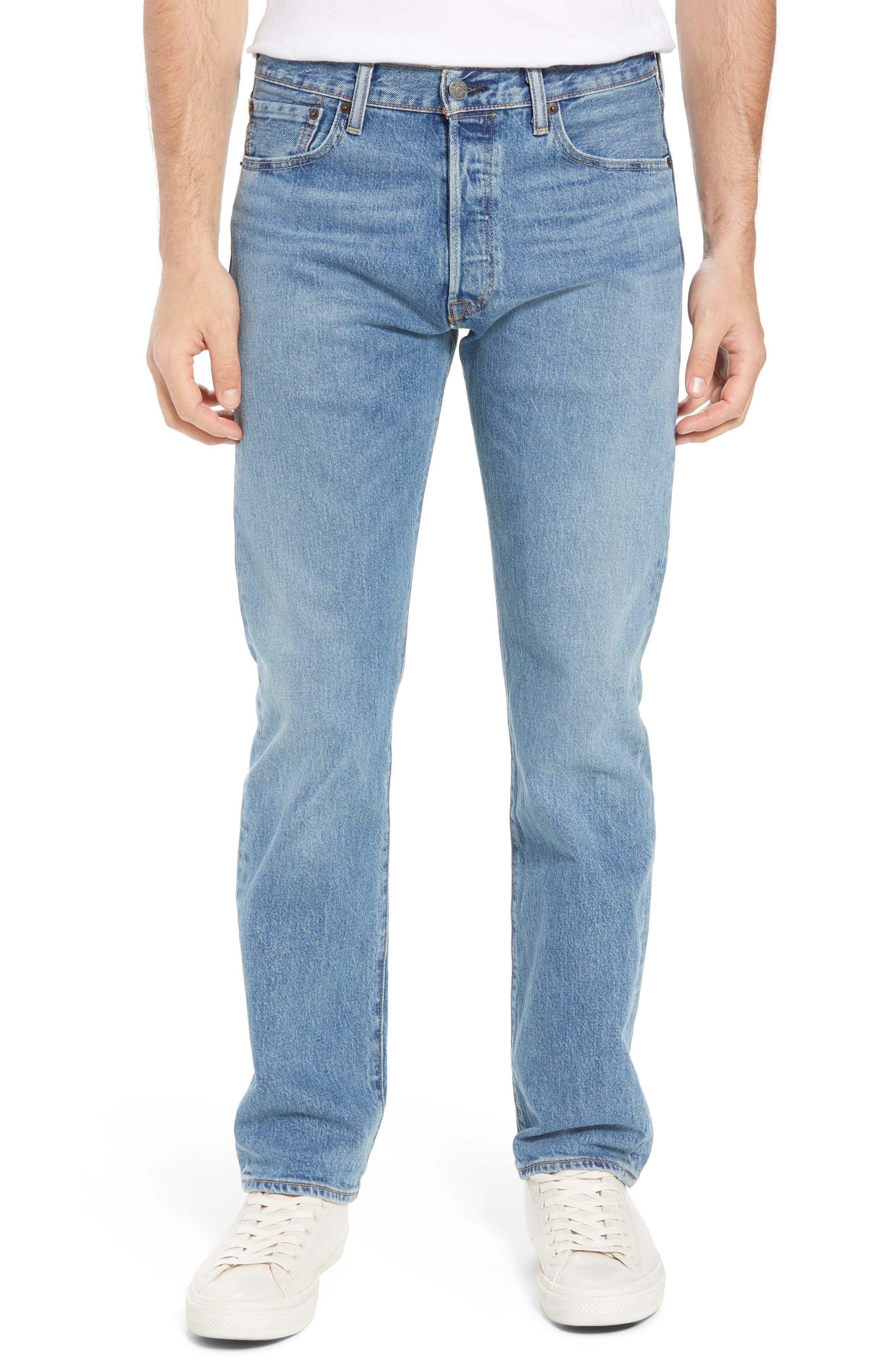 501<sup>®</sup> Original Straight Leg Jeans,                             Main thumbnail 1, color,                             The Ben