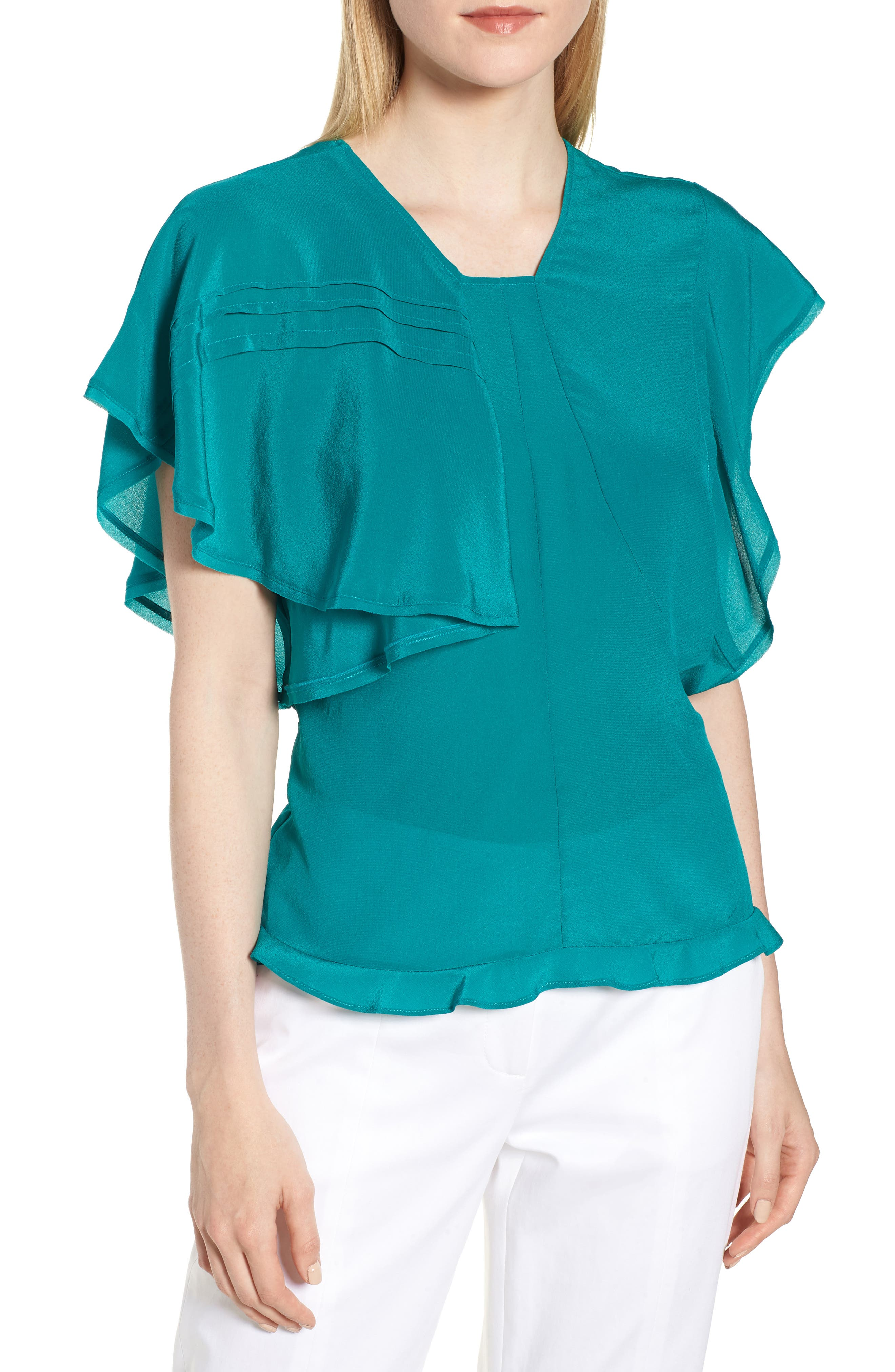 Lewit Ruffle Silk Top
