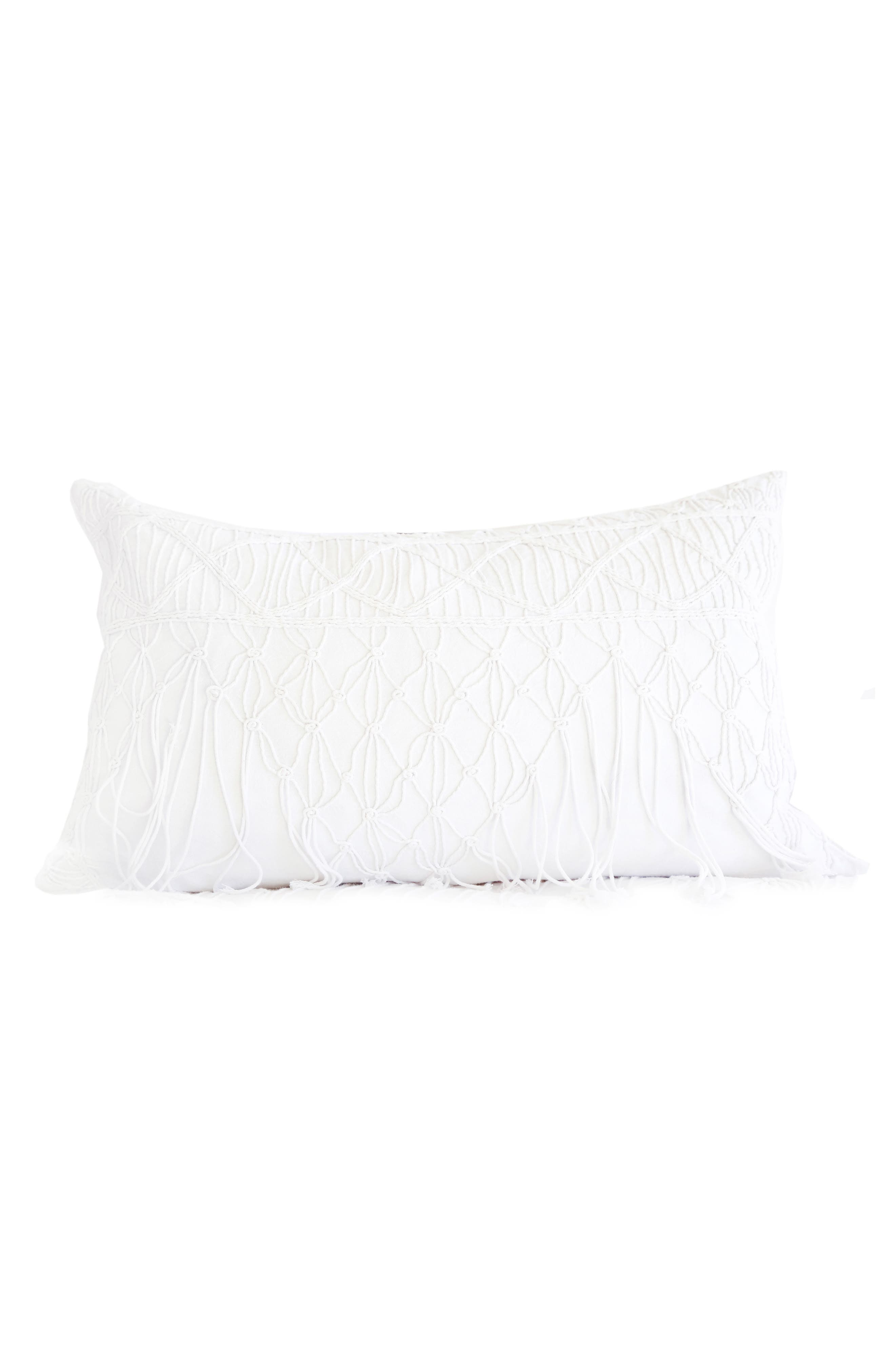 Zoe Accent Pillow,                             Main thumbnail 1, color,                             White