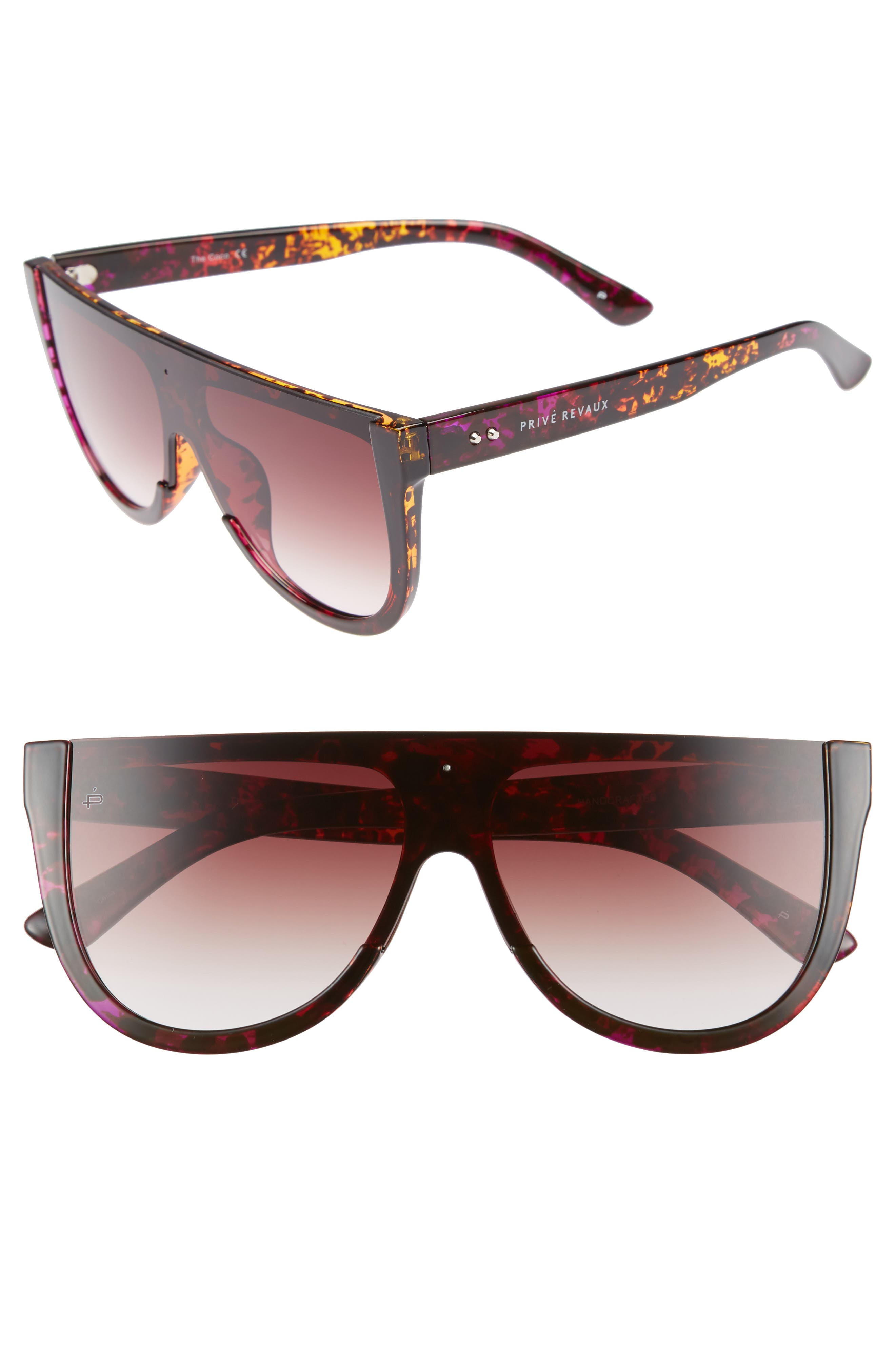 Privé Revaux The Coco 60mm Shield Sunglasses,                             Main thumbnail 1, color,                             Brown