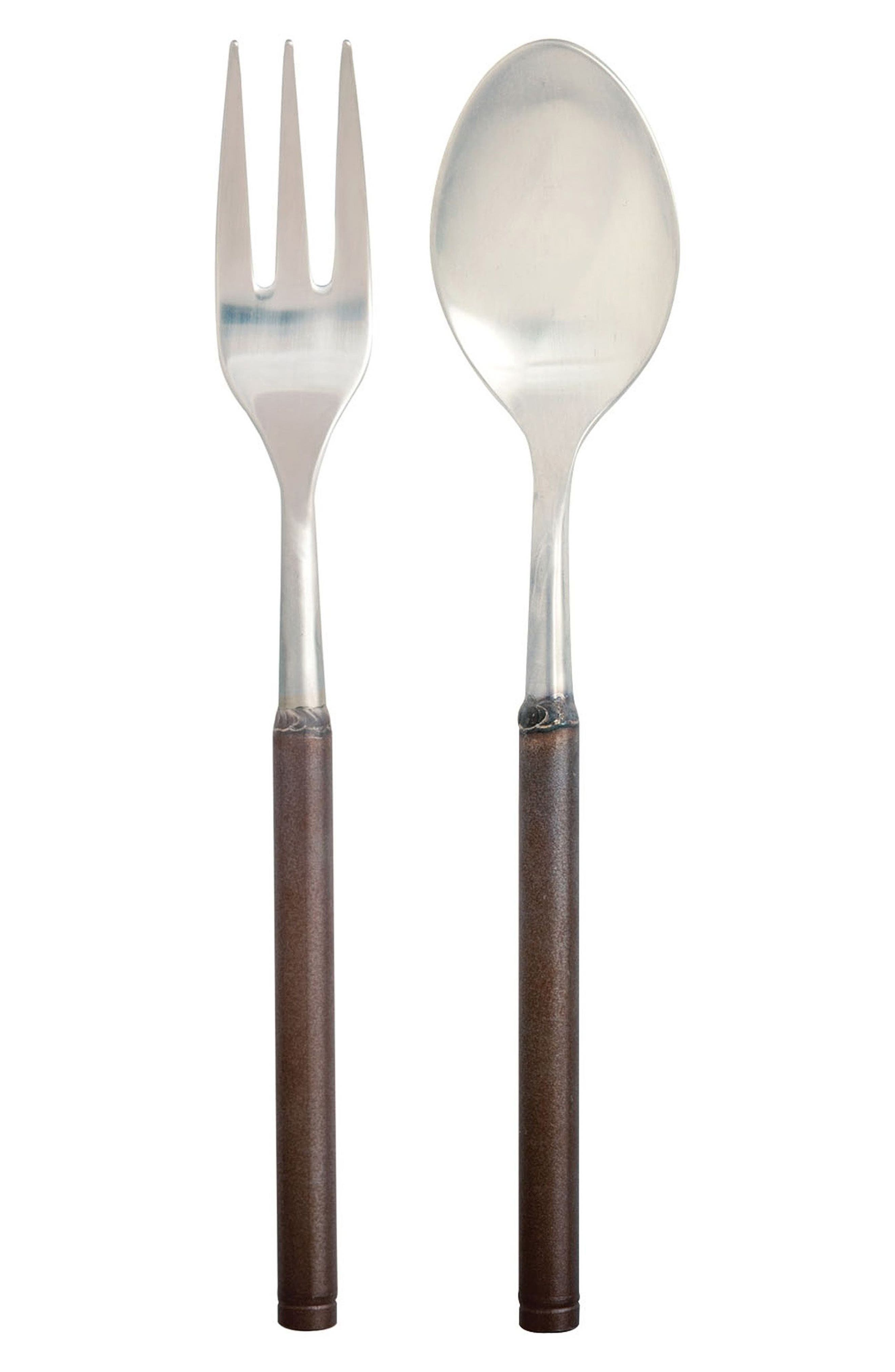 Fuoco 2-Piece Serving Set,                         Main,                         color, Brown/ Pewter