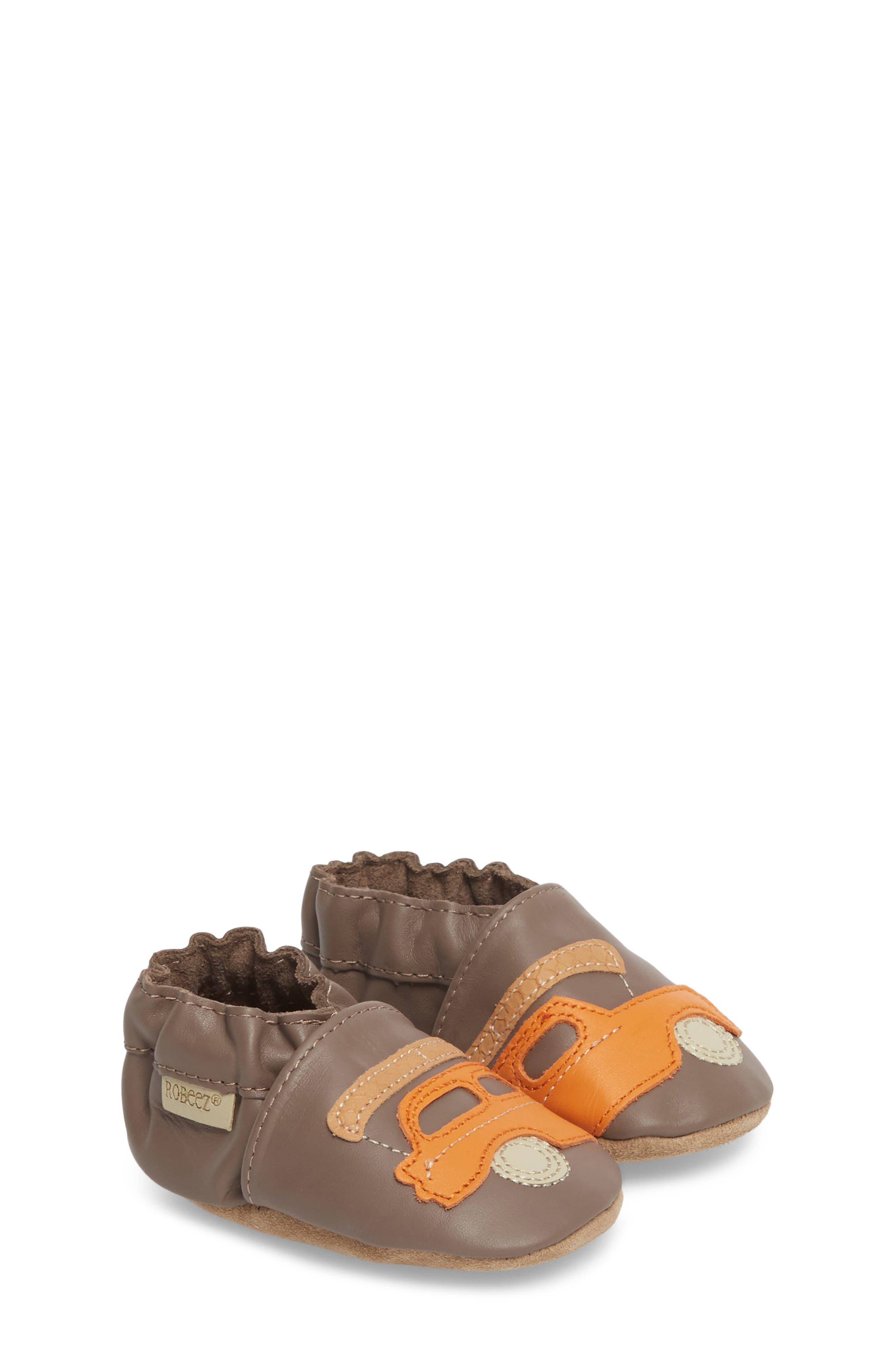 Alternate Image 3  - Robeez® Life is an Adventure Crib Shoe (Baby & Walker)