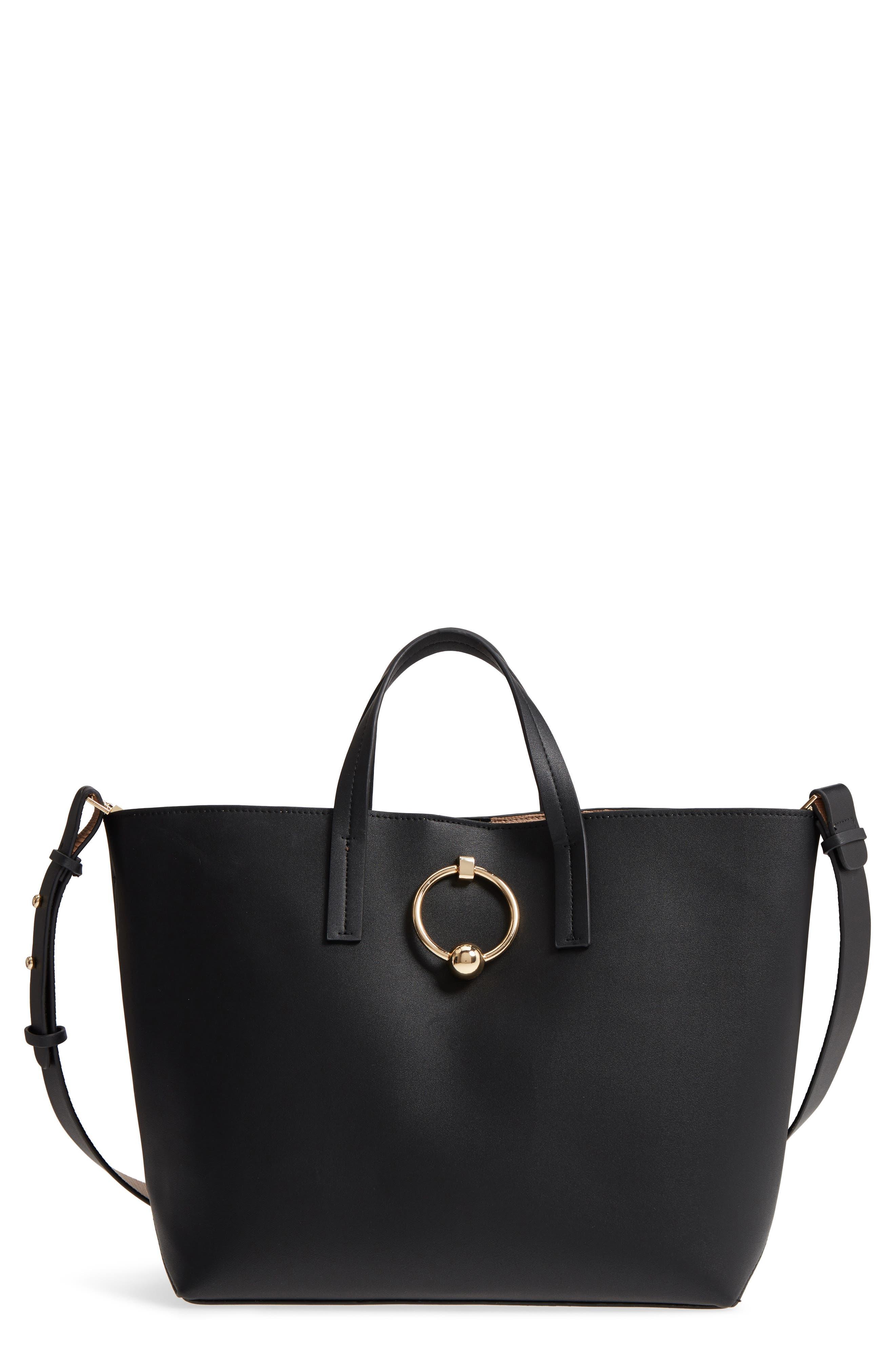 Seline Tote Bag,                             Main thumbnail 1, color,                             Black