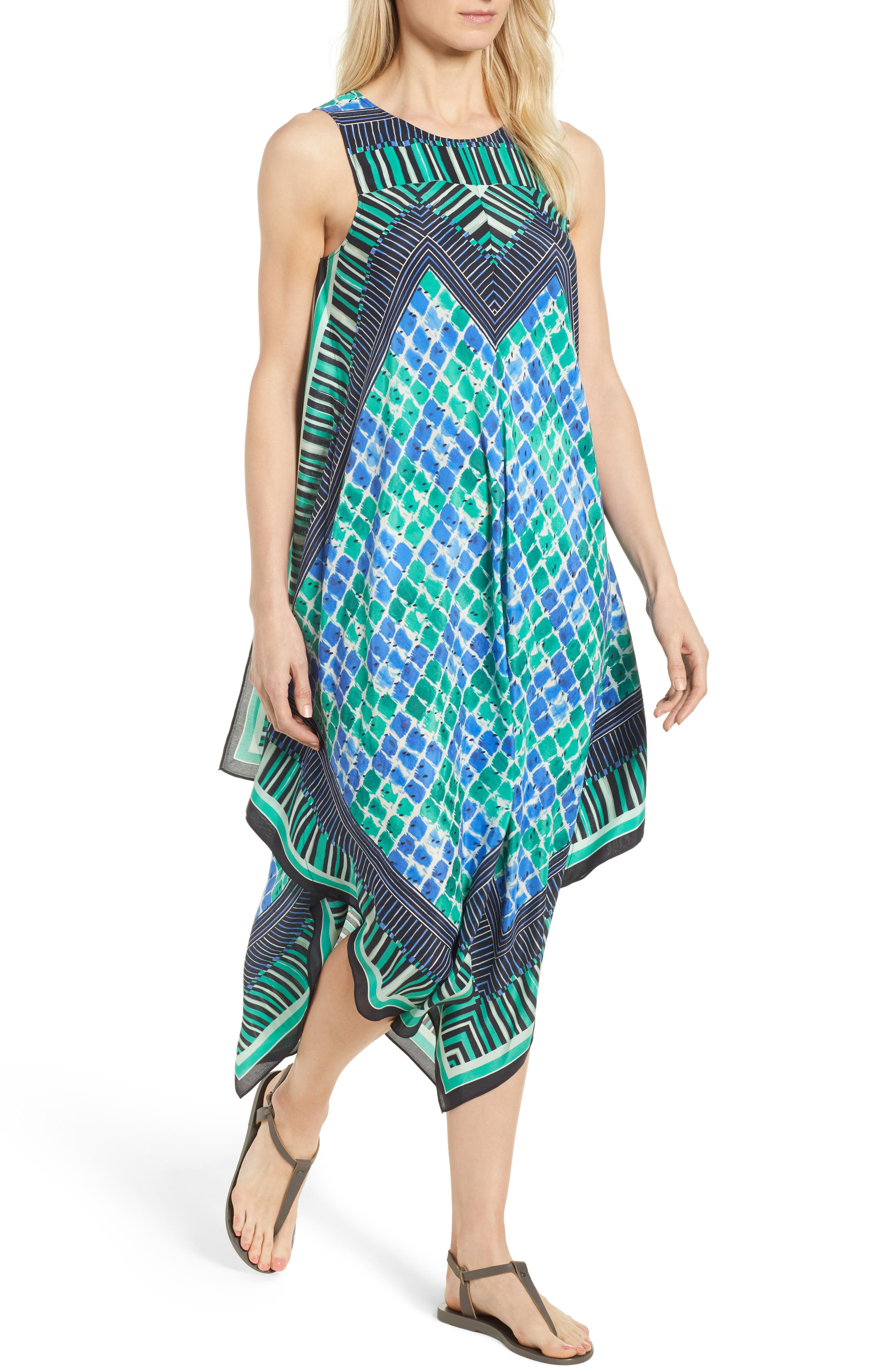 DJ VU Print Tank Dress,                             Main thumbnail 1, color,                             Multi