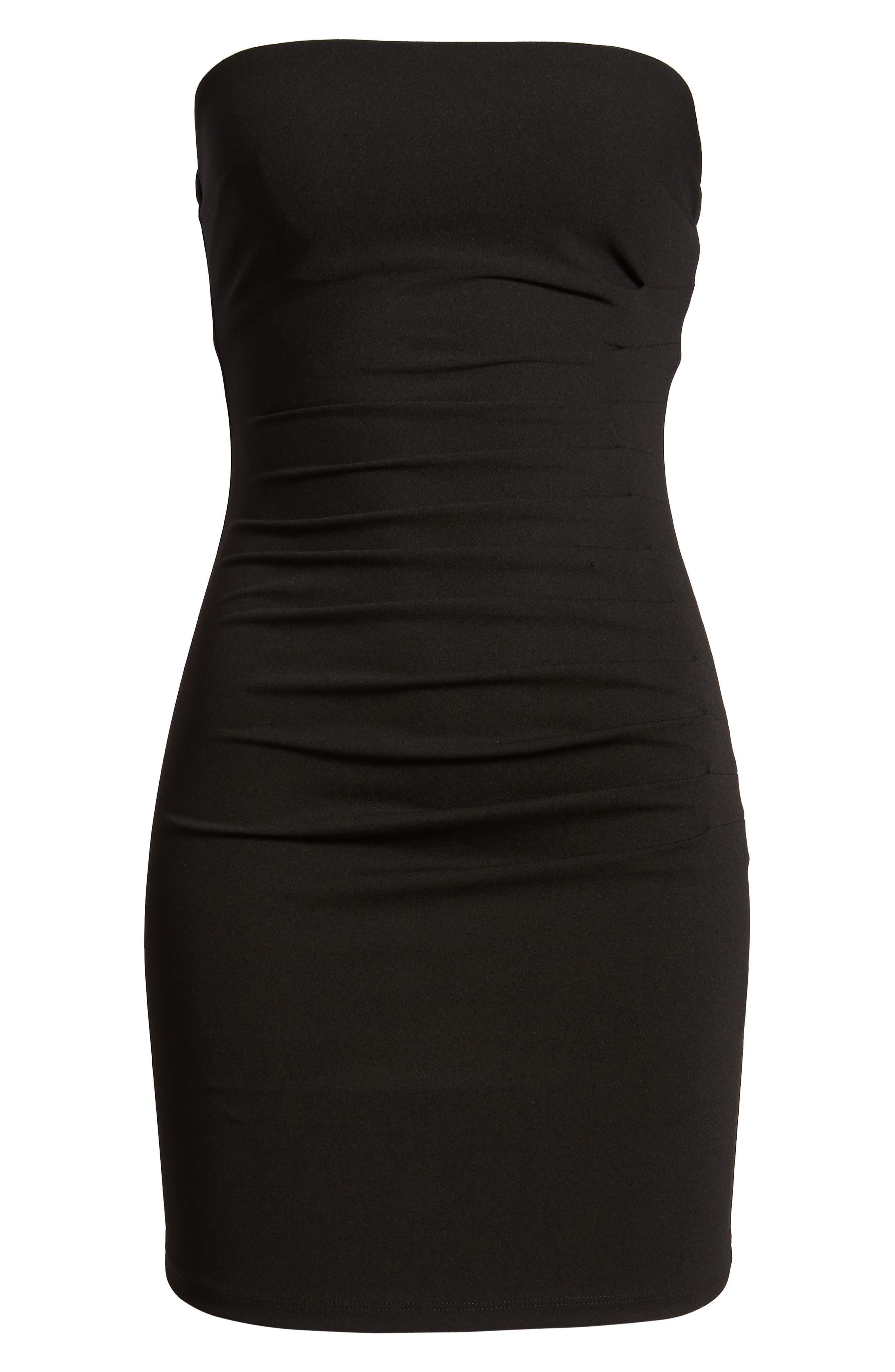 Tube Dress,                             Alternate thumbnail 7, color,                             Black