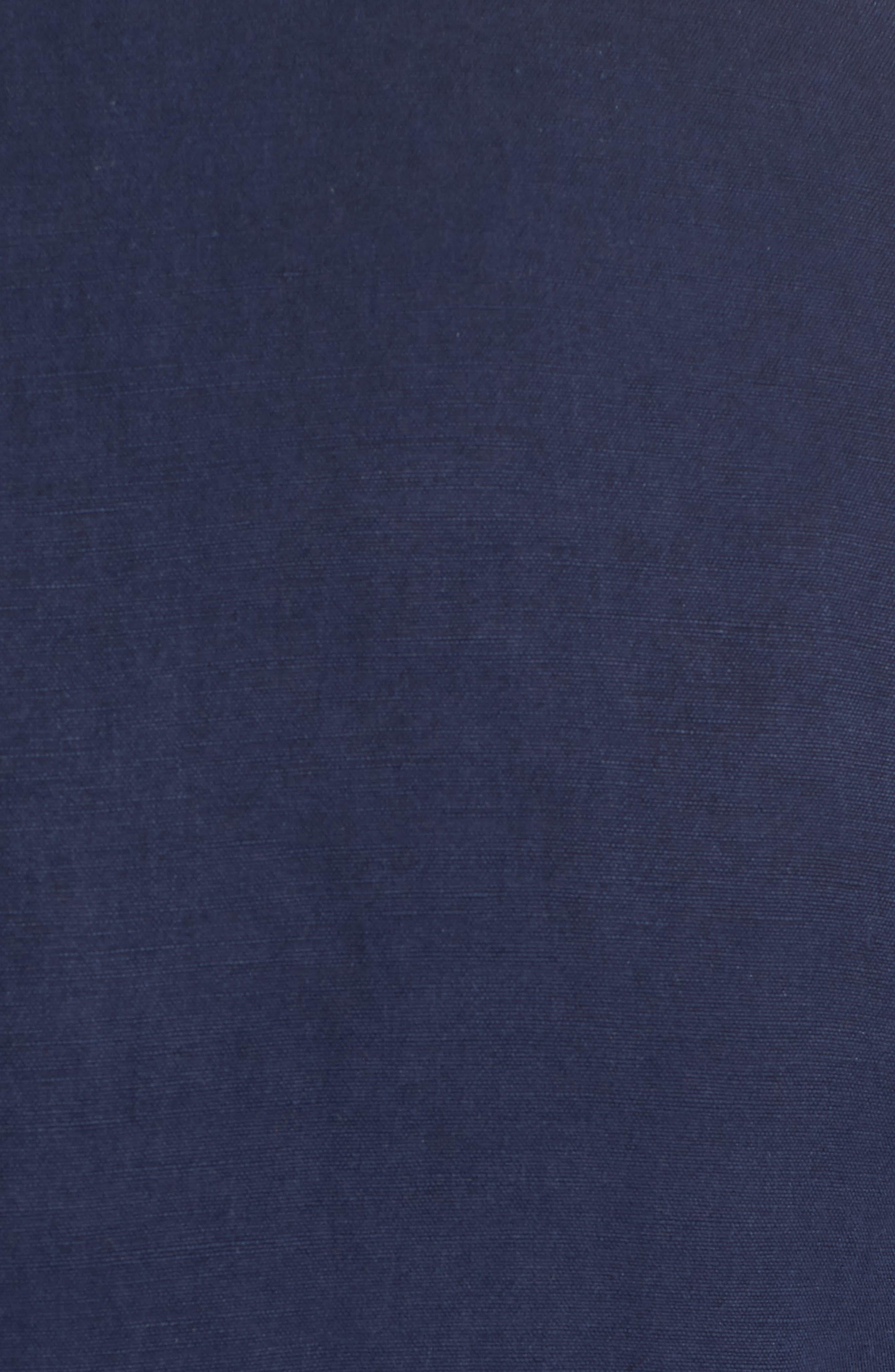 Monterey Silk & Linen Blazer,                             Alternate thumbnail 5, color,                             Ocean Deep